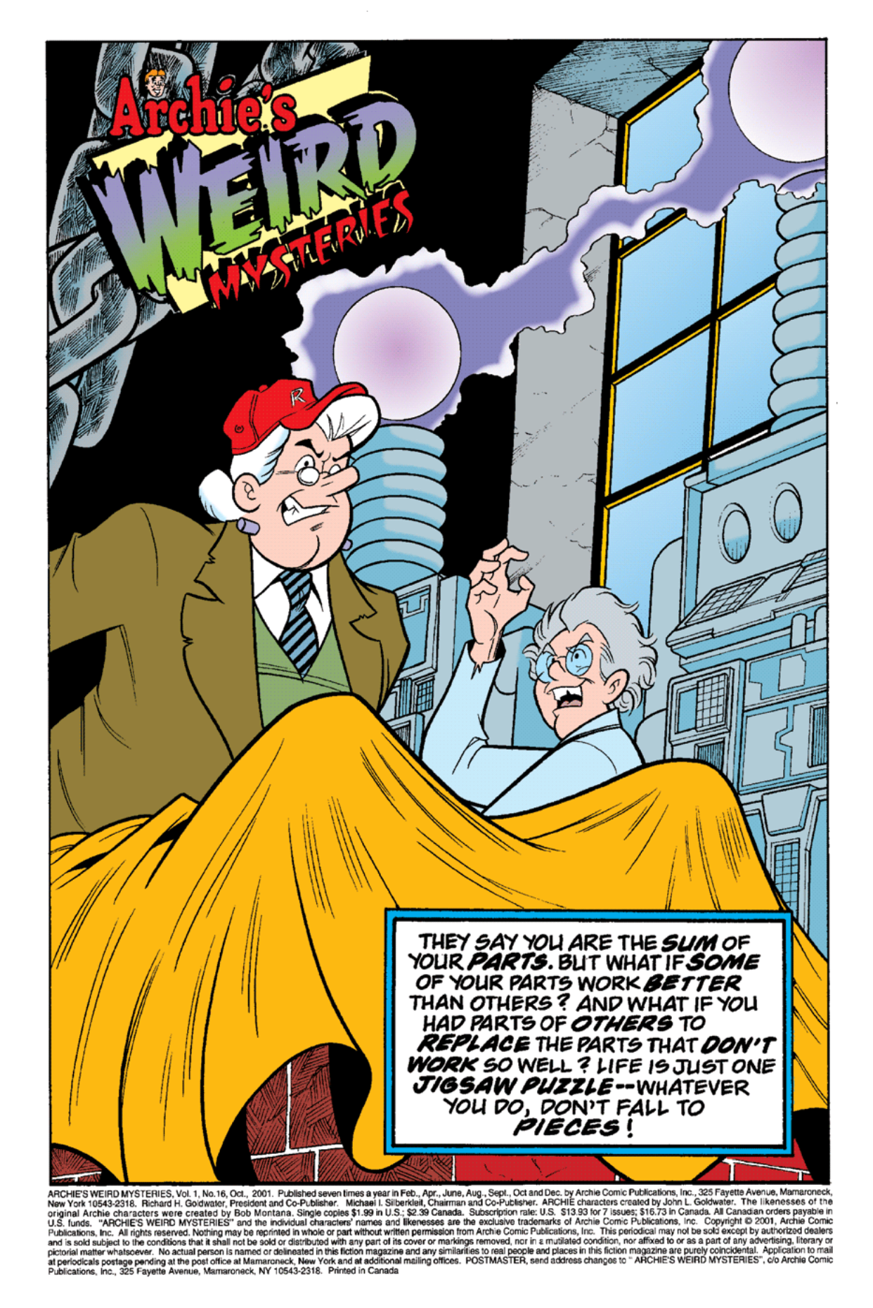 Read online Archie's Weird Mysteries comic -  Issue #16 - 2