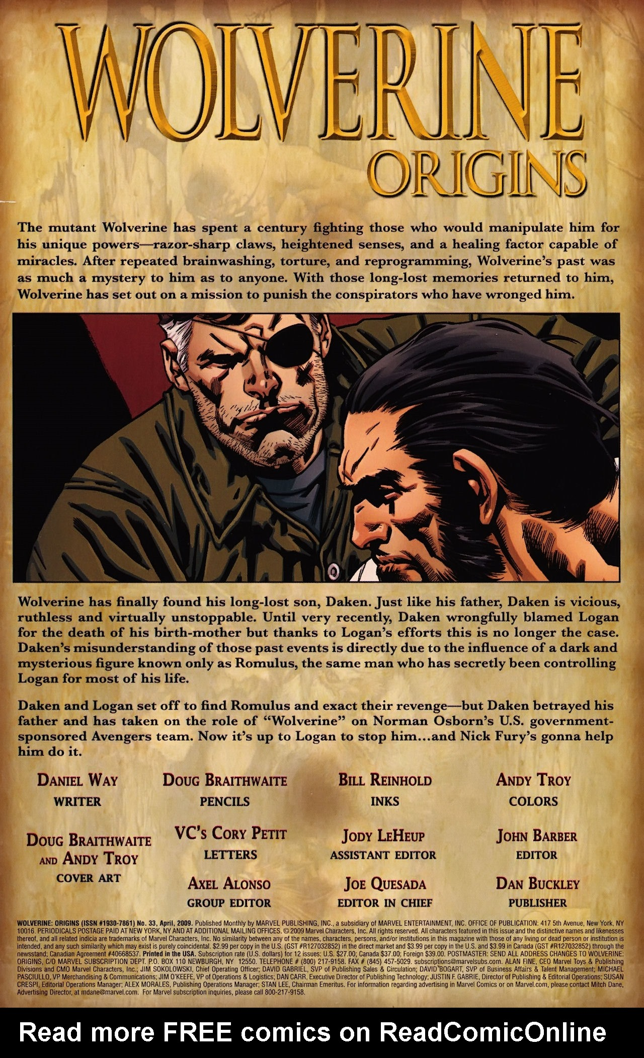 Read online Wolverine: Origins comic -  Issue #33 - 2