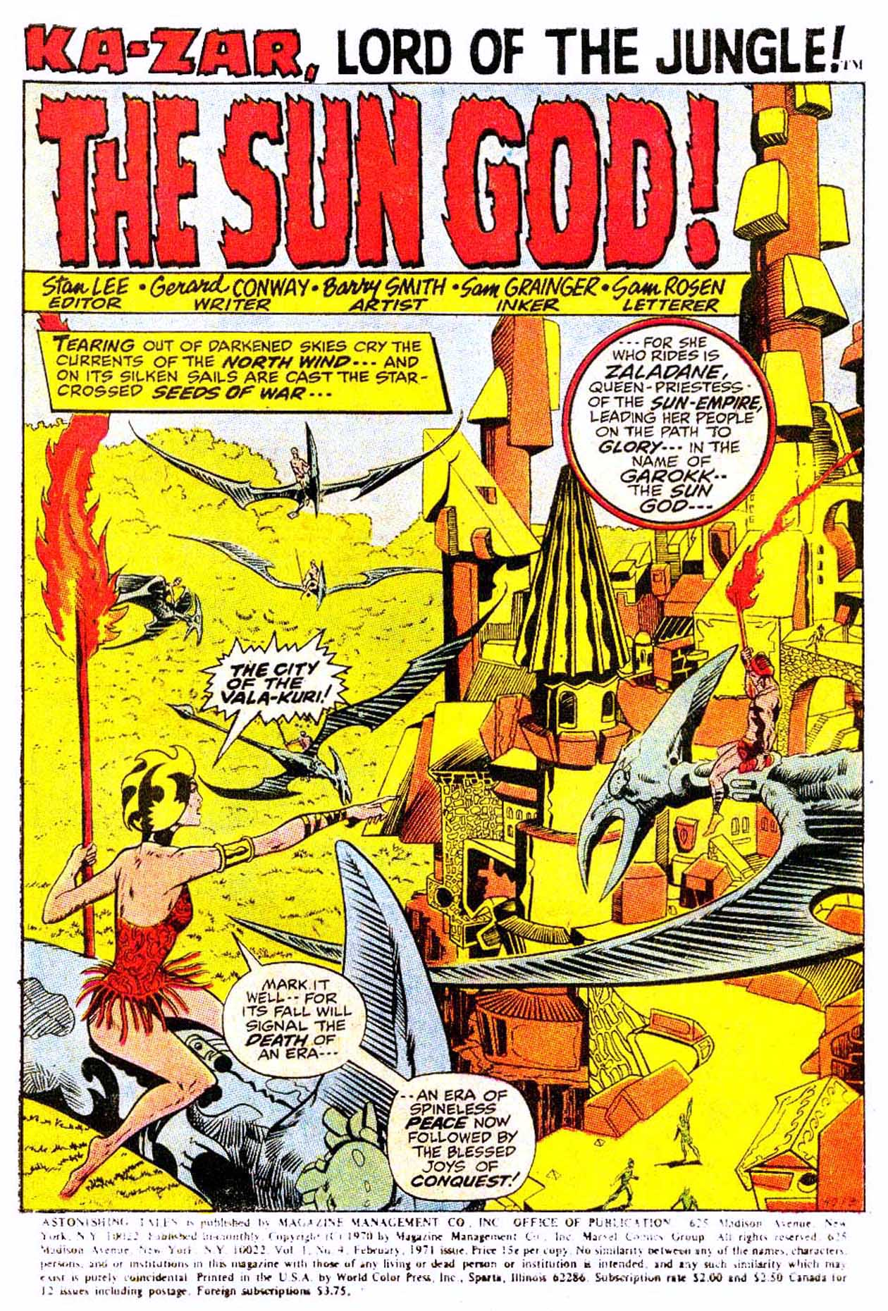 Read online Astonishing Tales (1970) comic -  Issue #4 - 12