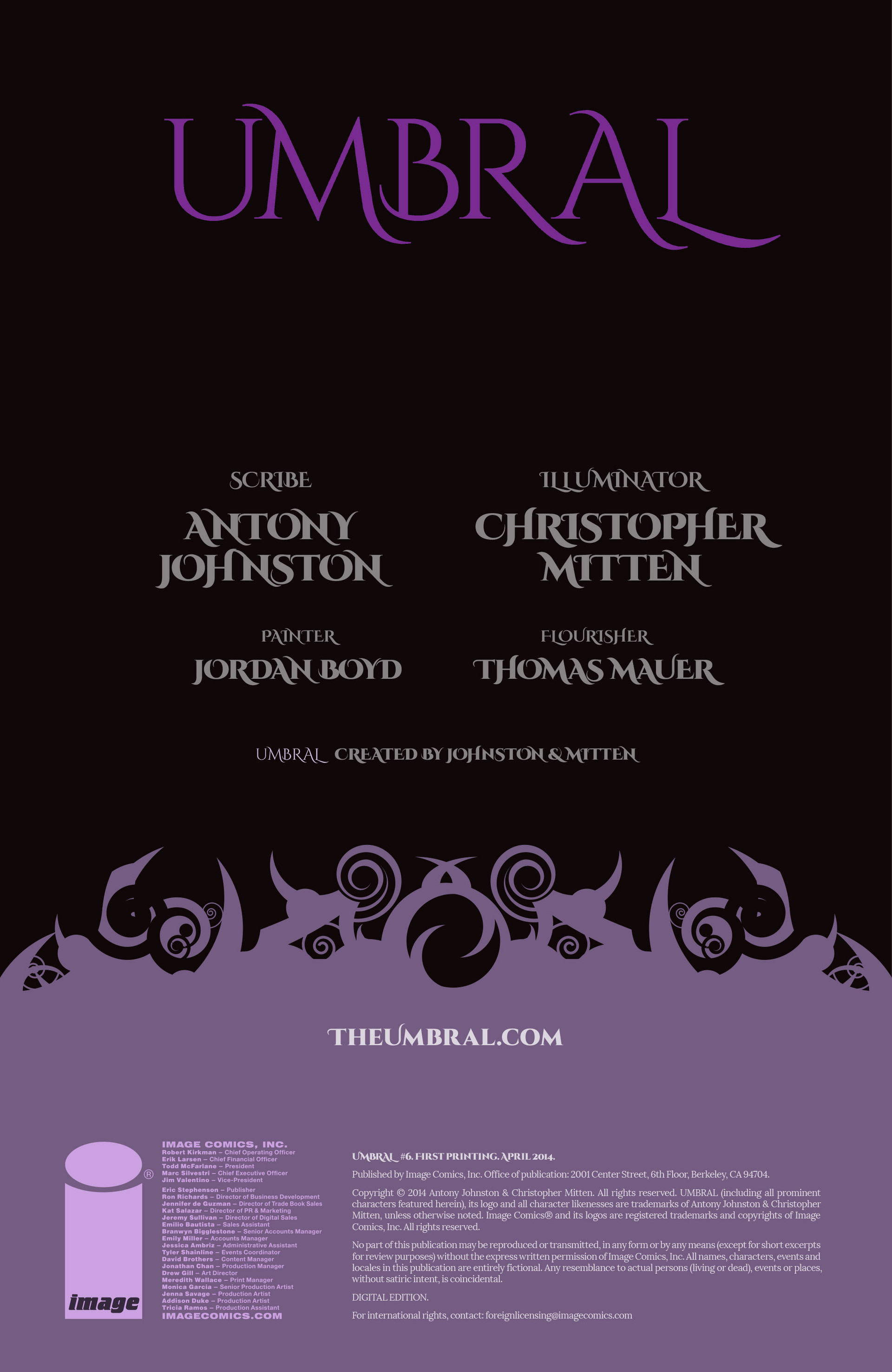 Read online Umbral comic -  Issue #6 - 2