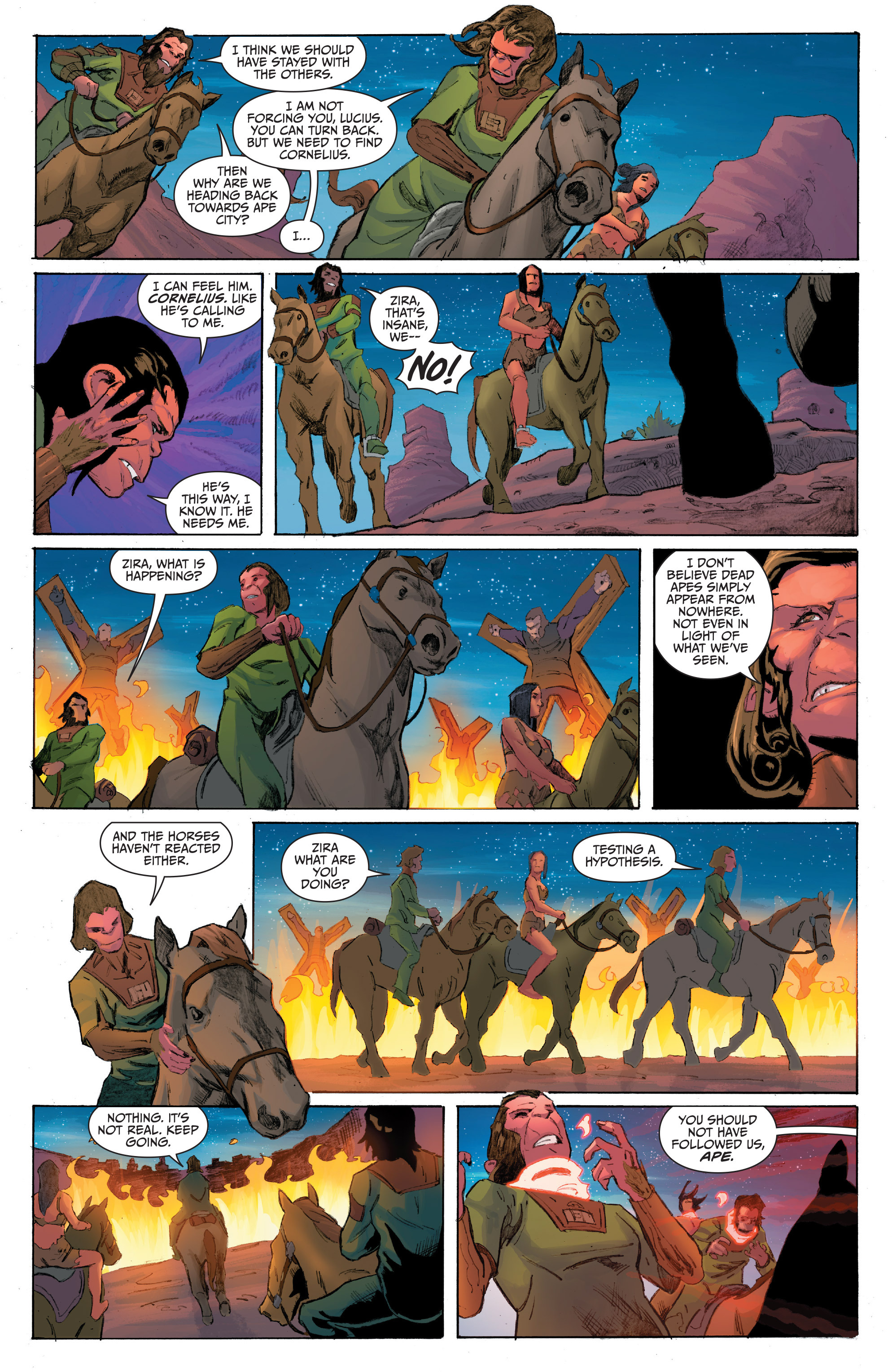 Read online Planet of the Apes/Green Lantern comic -  Issue #4 - 15