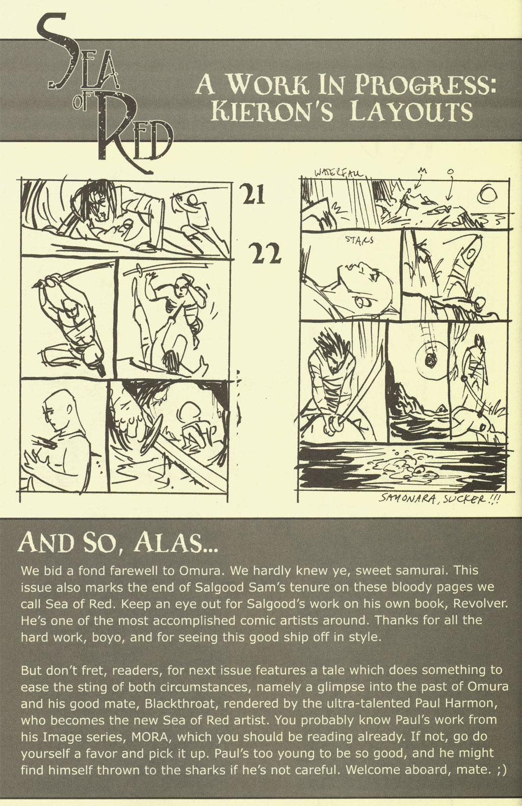 Read online Sea of Red comic -  Issue #4 - 32