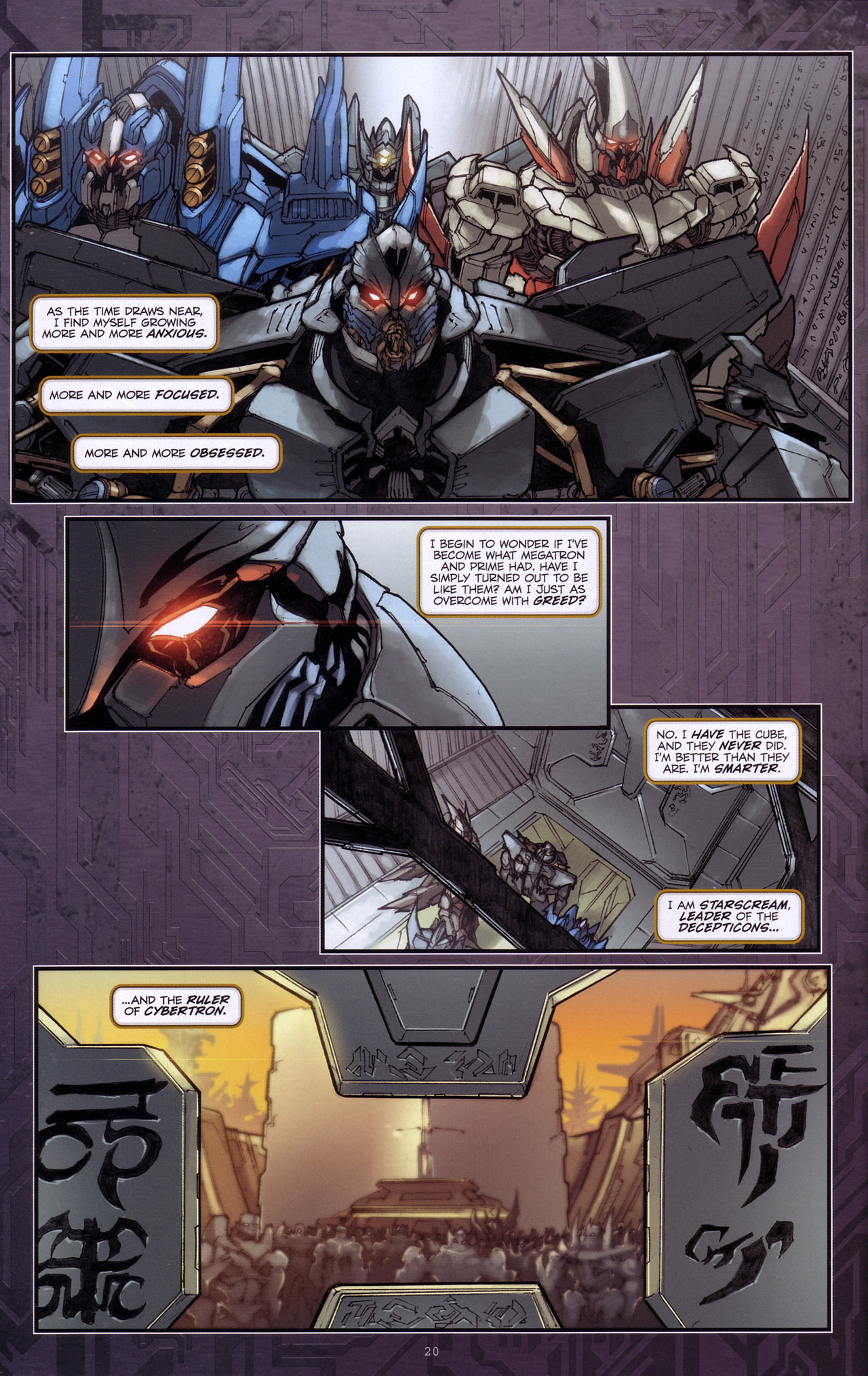 Read online Transformers: The Reign of Starscream comic -  Issue #4 - 22
