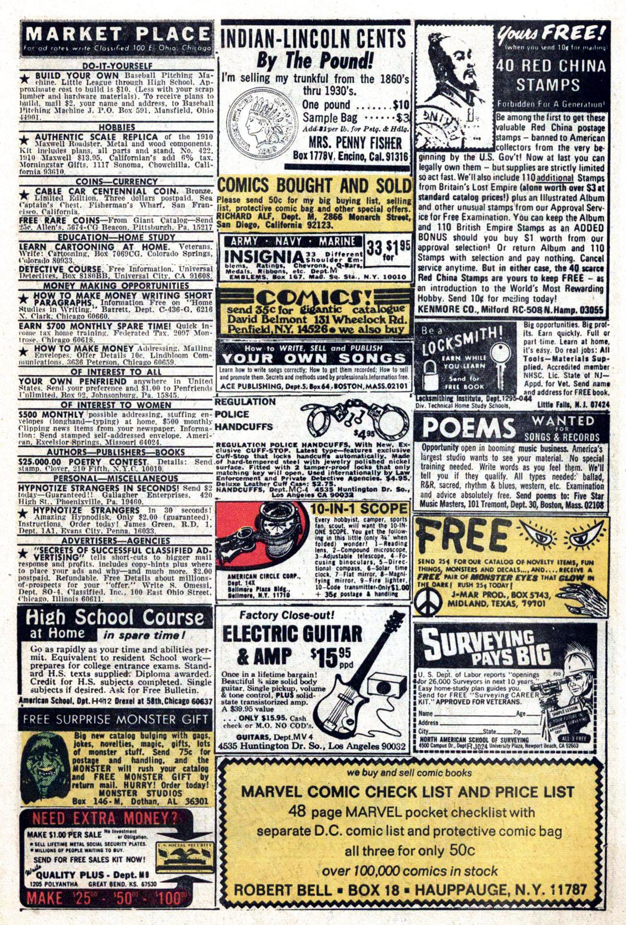 Read online Amazing Adventures (1970) comic -  Issue #24 - 25
