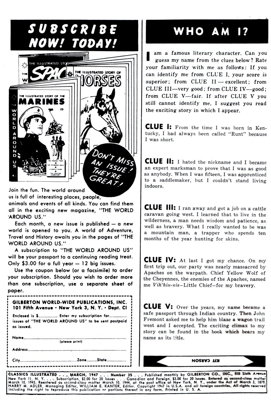 Classics Illustrated issue 35 - Page 1