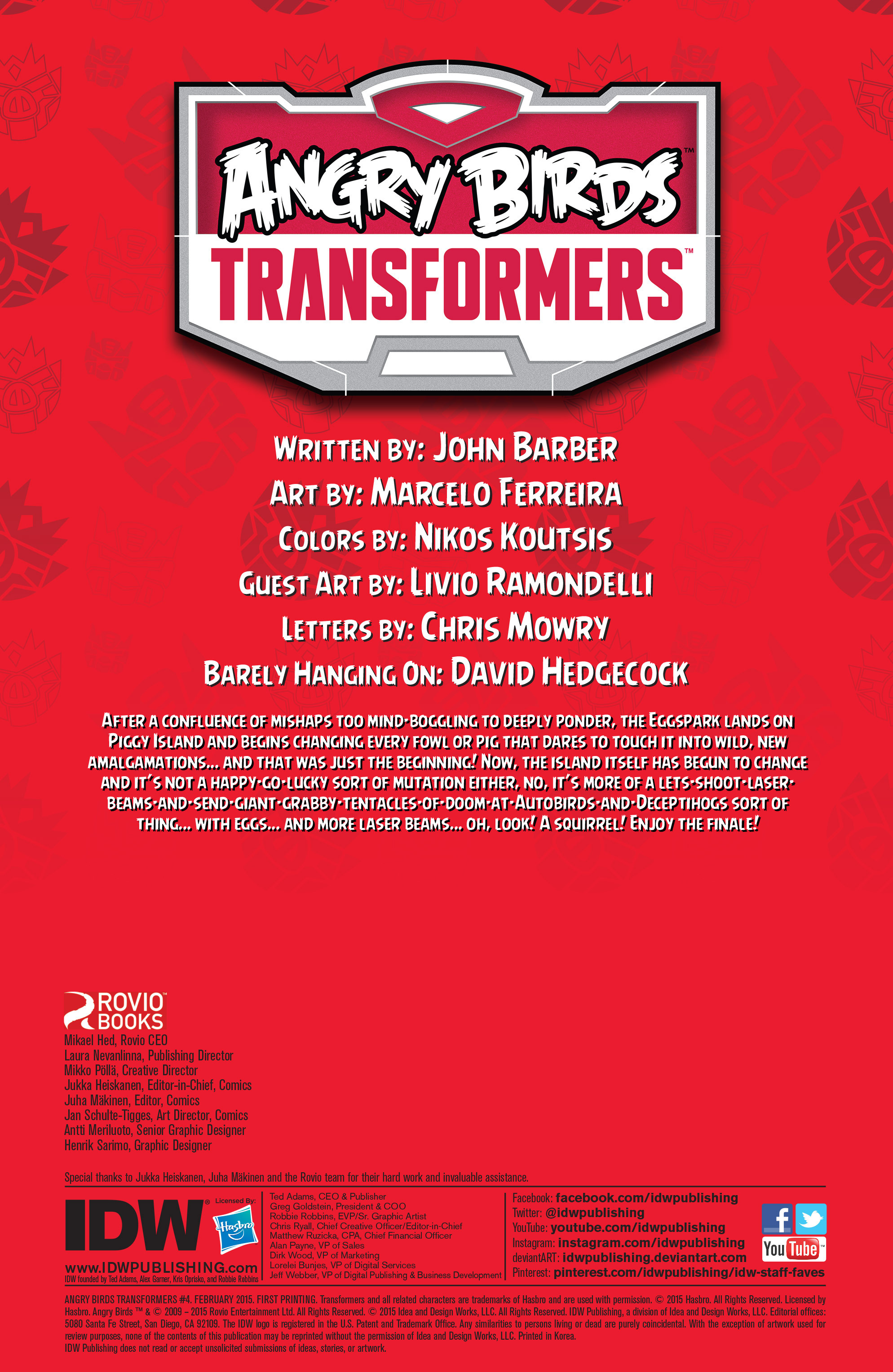Read online Angry Birds Transformers comic -  Issue #4 - 2