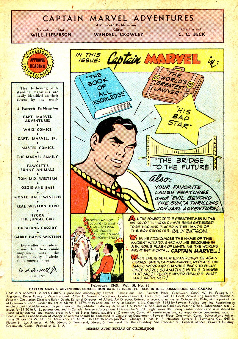 Captain Marvel Adventures issue 93 - Page 3