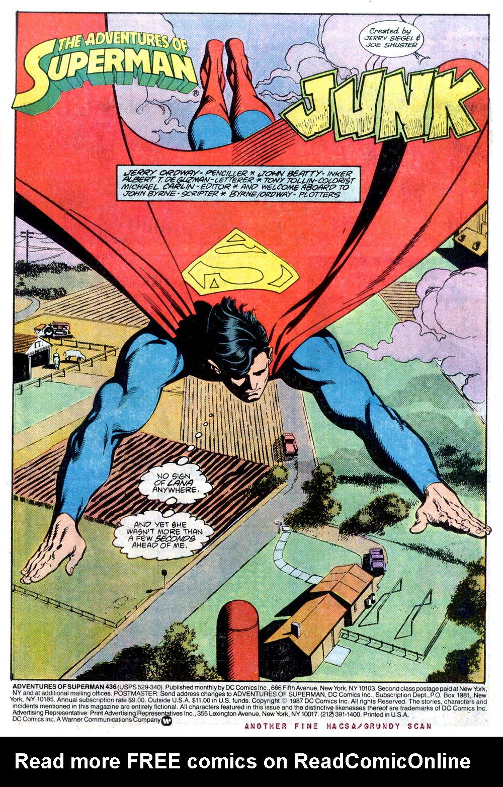 Read online Adventures of Superman (1987) comic -  Issue #436 - 2