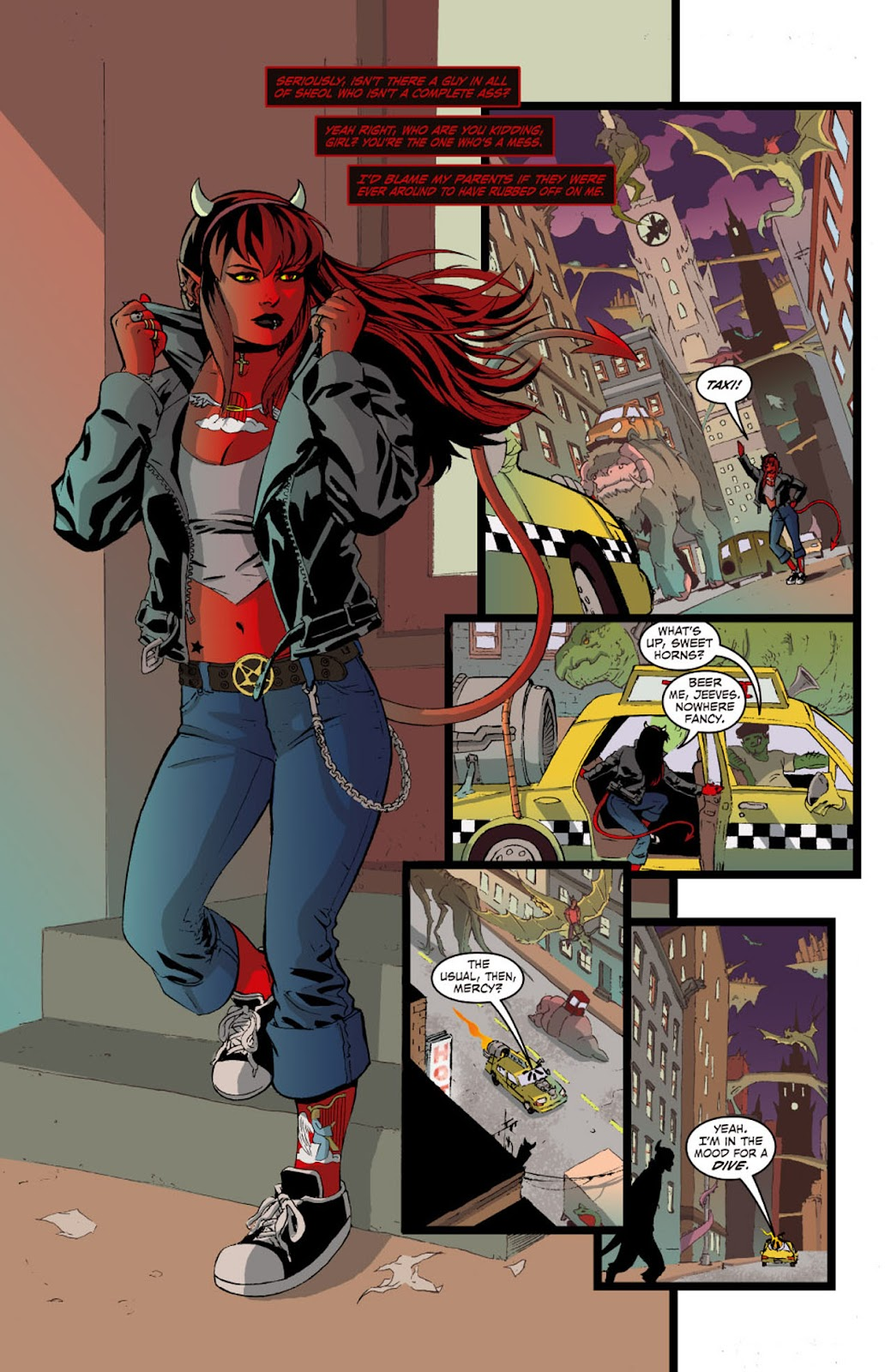 Read online Mercy Sparx (2008) comic -  Issue #0 - 4
