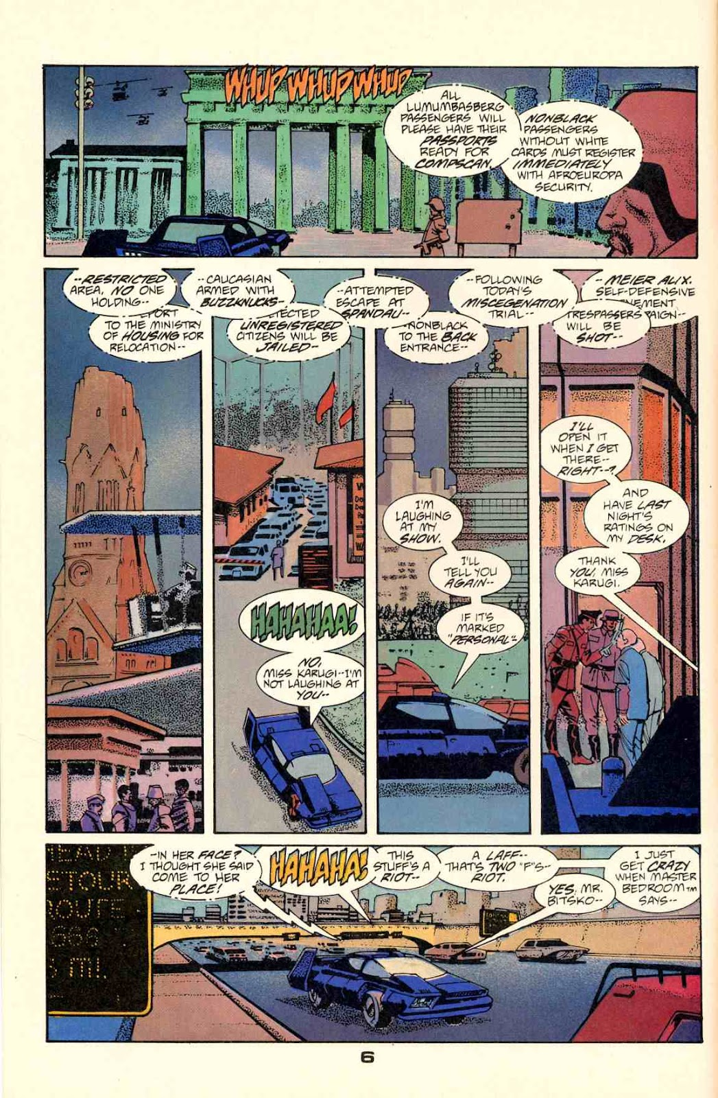 Howard Chaykin's American Flagg issue 2 - Page 8