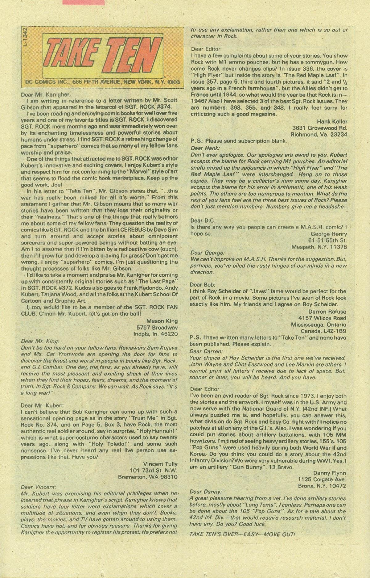 Read online Sgt. Rock comic -  Issue #380 - 21