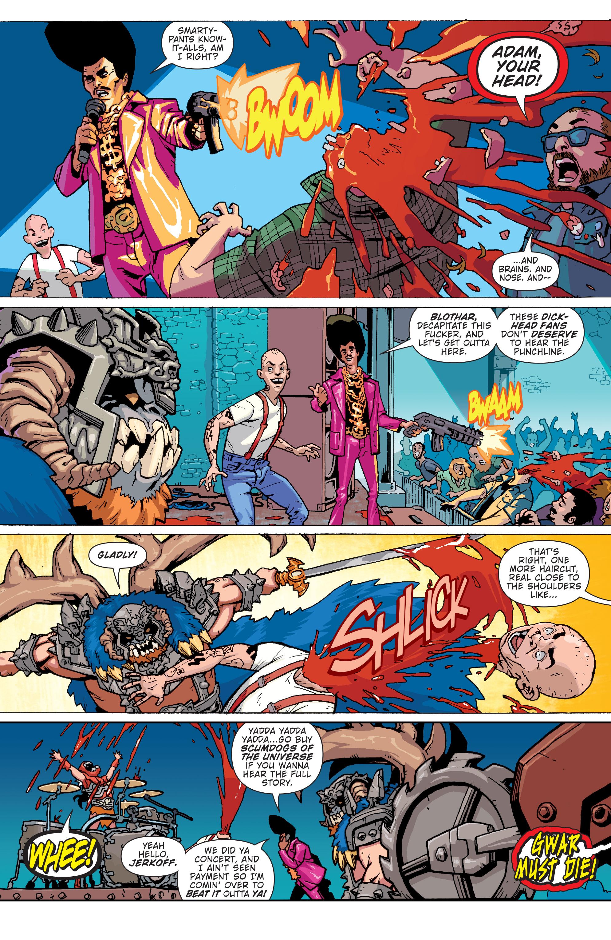 Read online Gwar: Orgasmageddon comic -  Issue #1 - 4