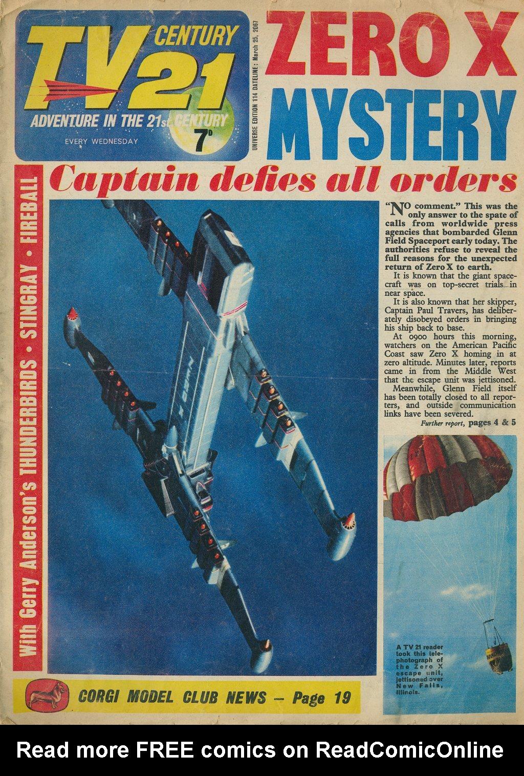 Read online TV Century 21 (TV 21) comic -  Issue #114 - 1