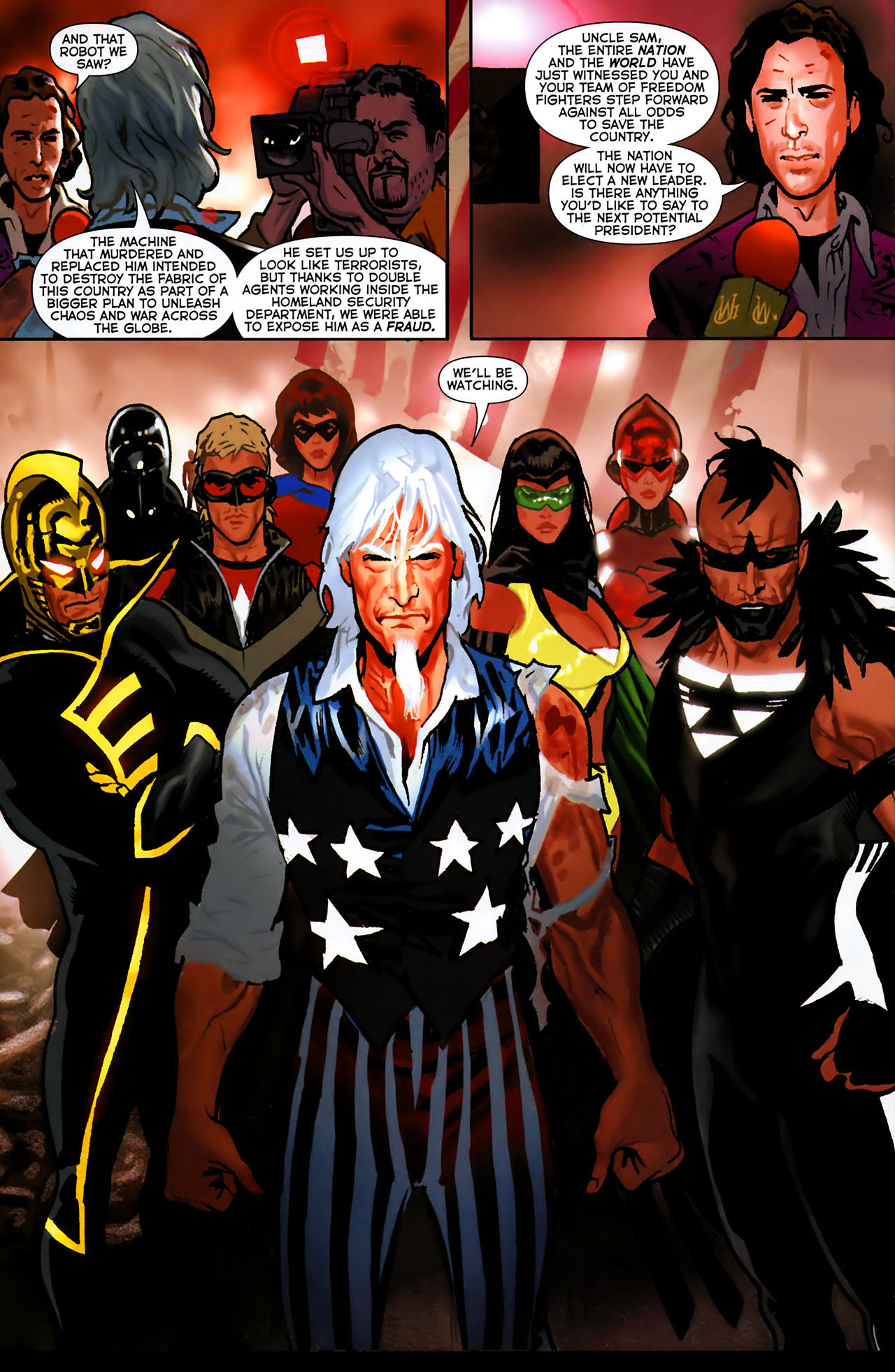 Read online Uncle Sam and the Freedom Fighters (2006) comic -  Issue #8 - 17