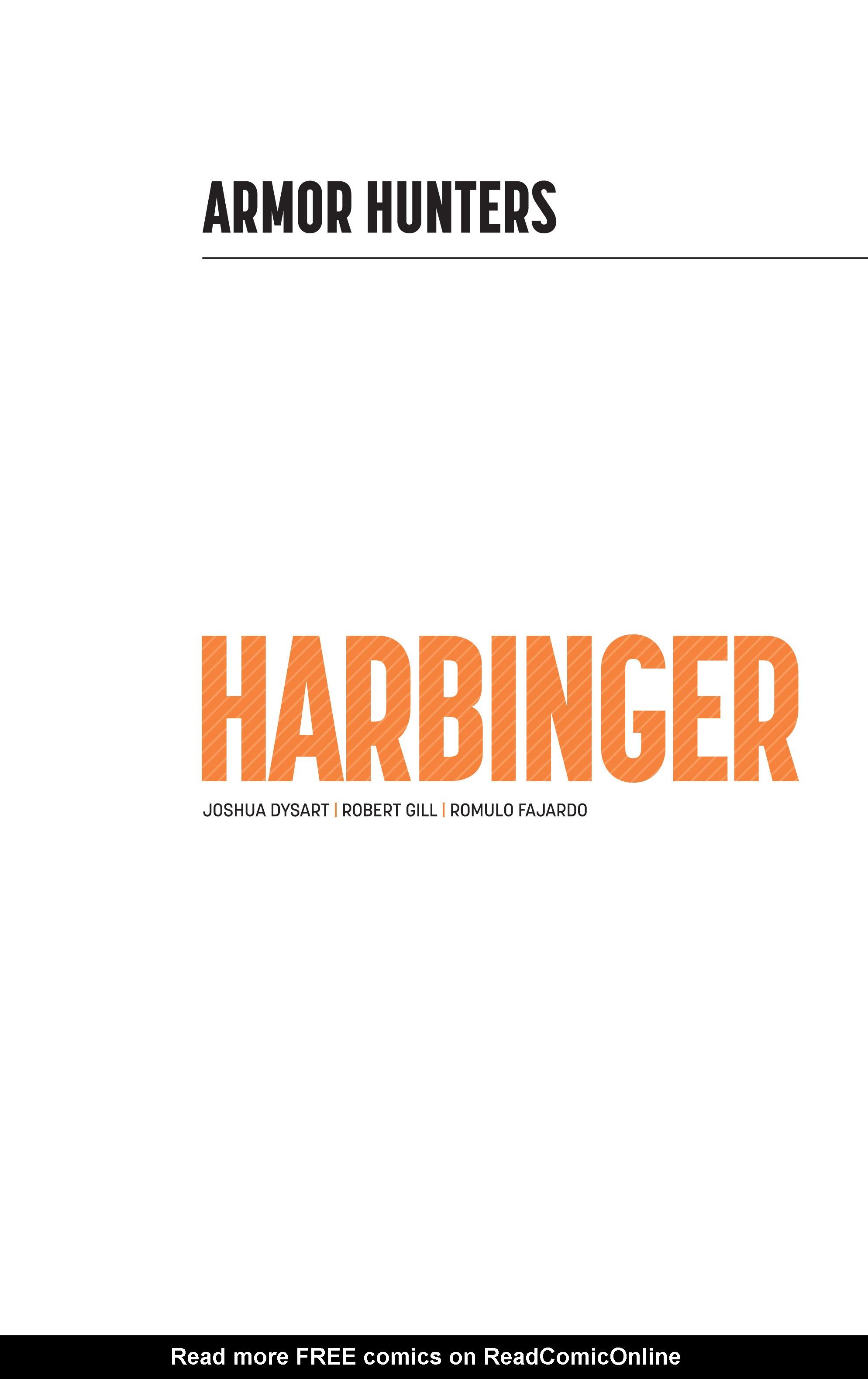 Read online Armor Hunters: Harbinger comic -  Issue # TPB - 2