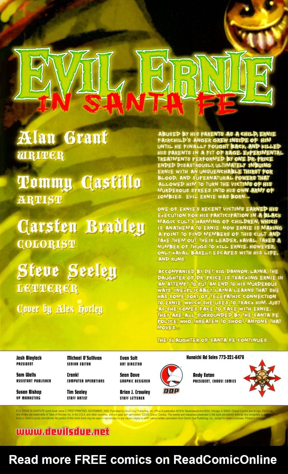 Read online Evil Ernie in Santa Fe comic -  Issue #3 - 2