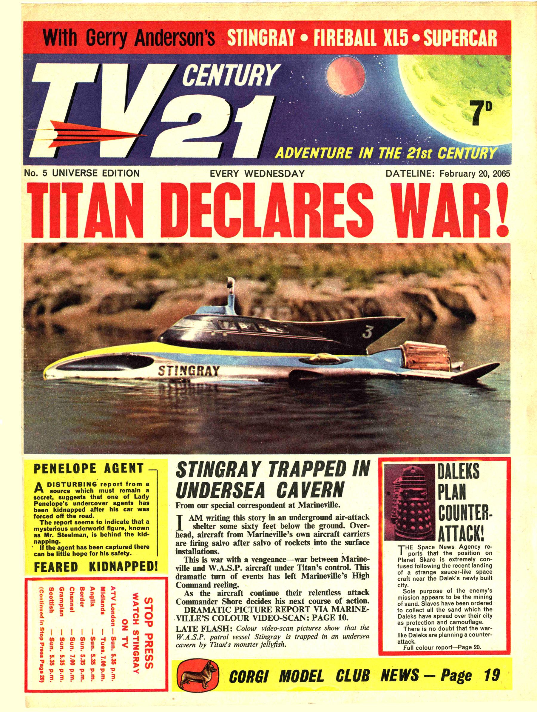 Read online TV Century 21 (TV 21) comic -  Issue #5 - 1