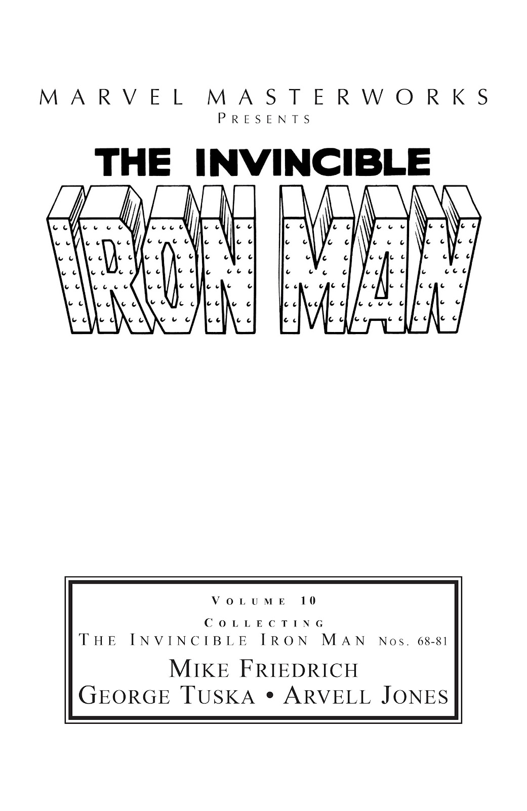 Read online Marvel Masterworks: The Invincible Iron Man comic -  Issue # TPB 10 (Part 1) - 2