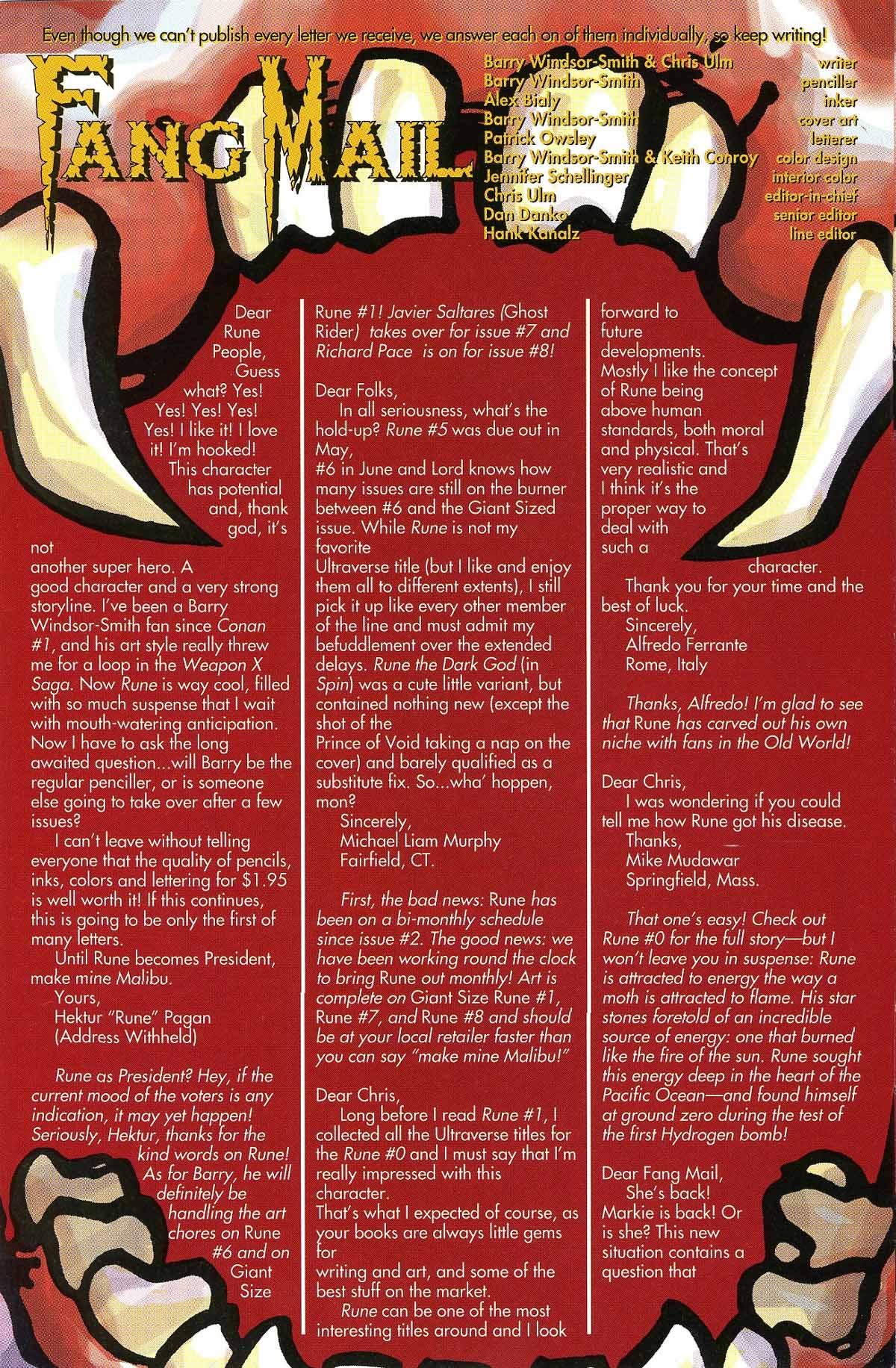Read online Rune (1994) comic -  Issue #6 - 30