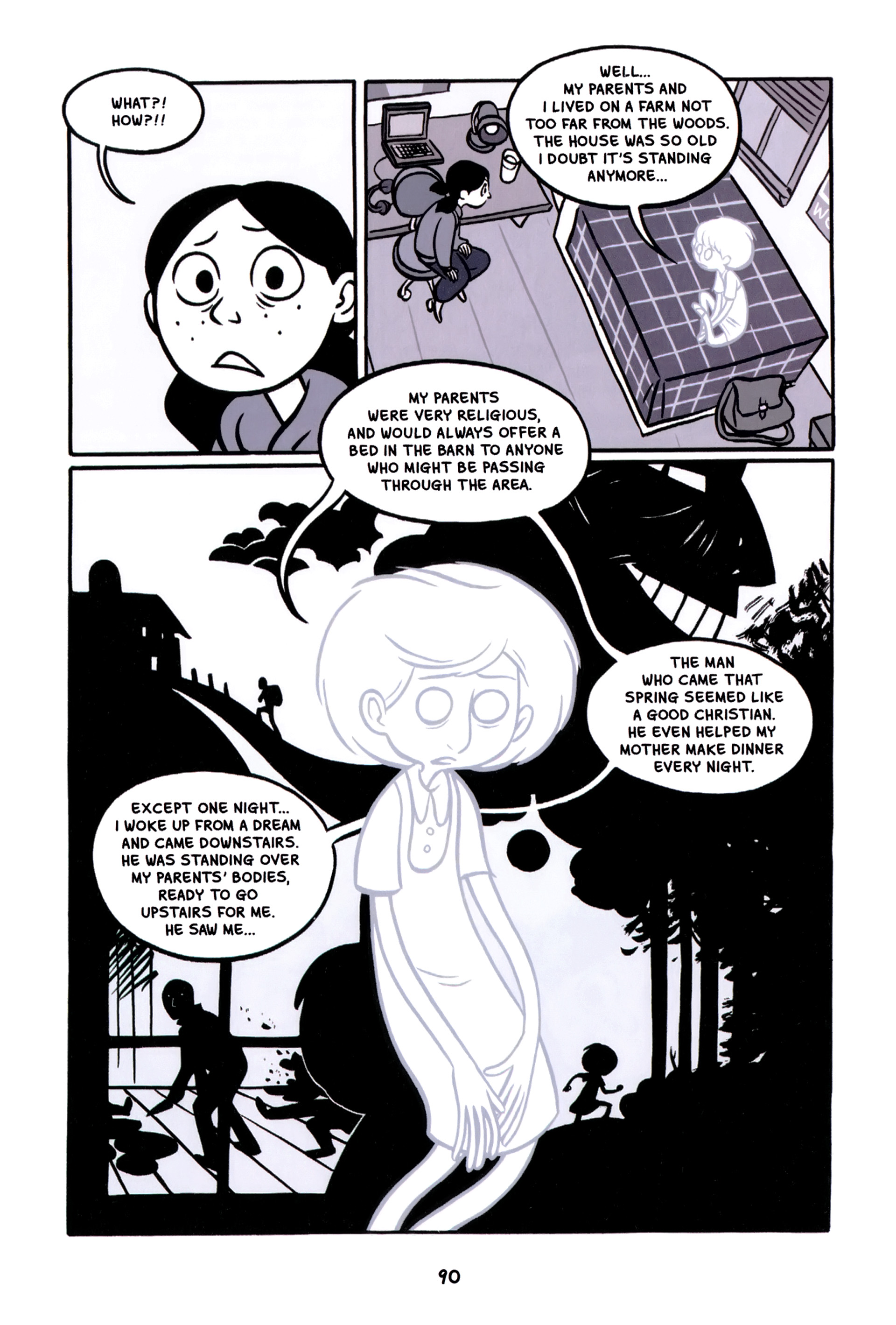 Read online Anya's Ghost comic -  Issue #1 - 91