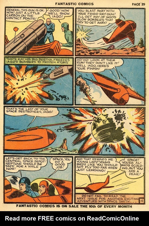 Read online Fantastic Comics comic -  Issue #10 - 40