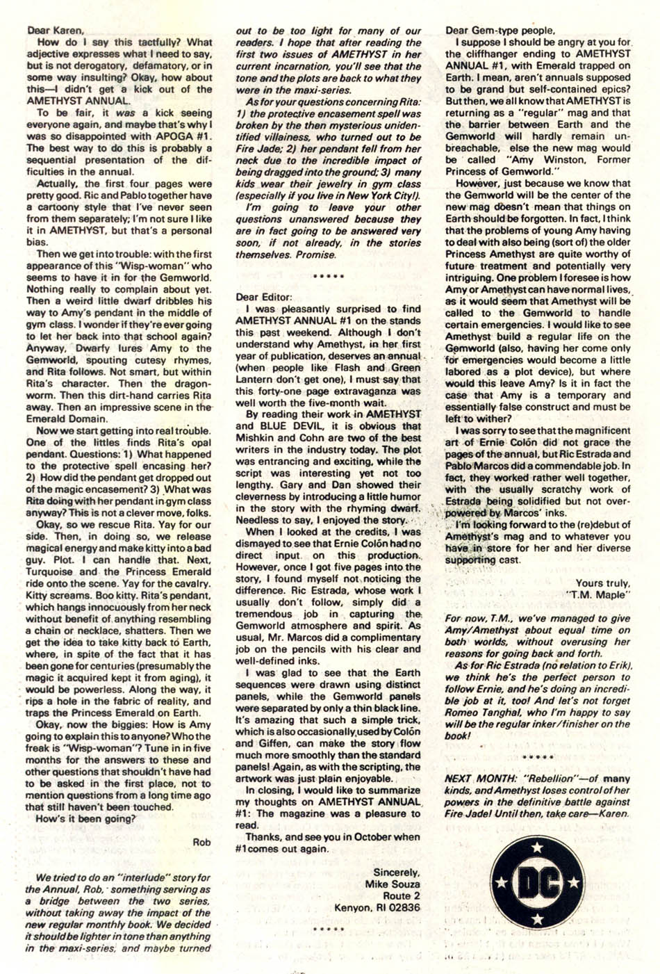 Read online Amethyst (1985) comic -  Issue #2 - 26
