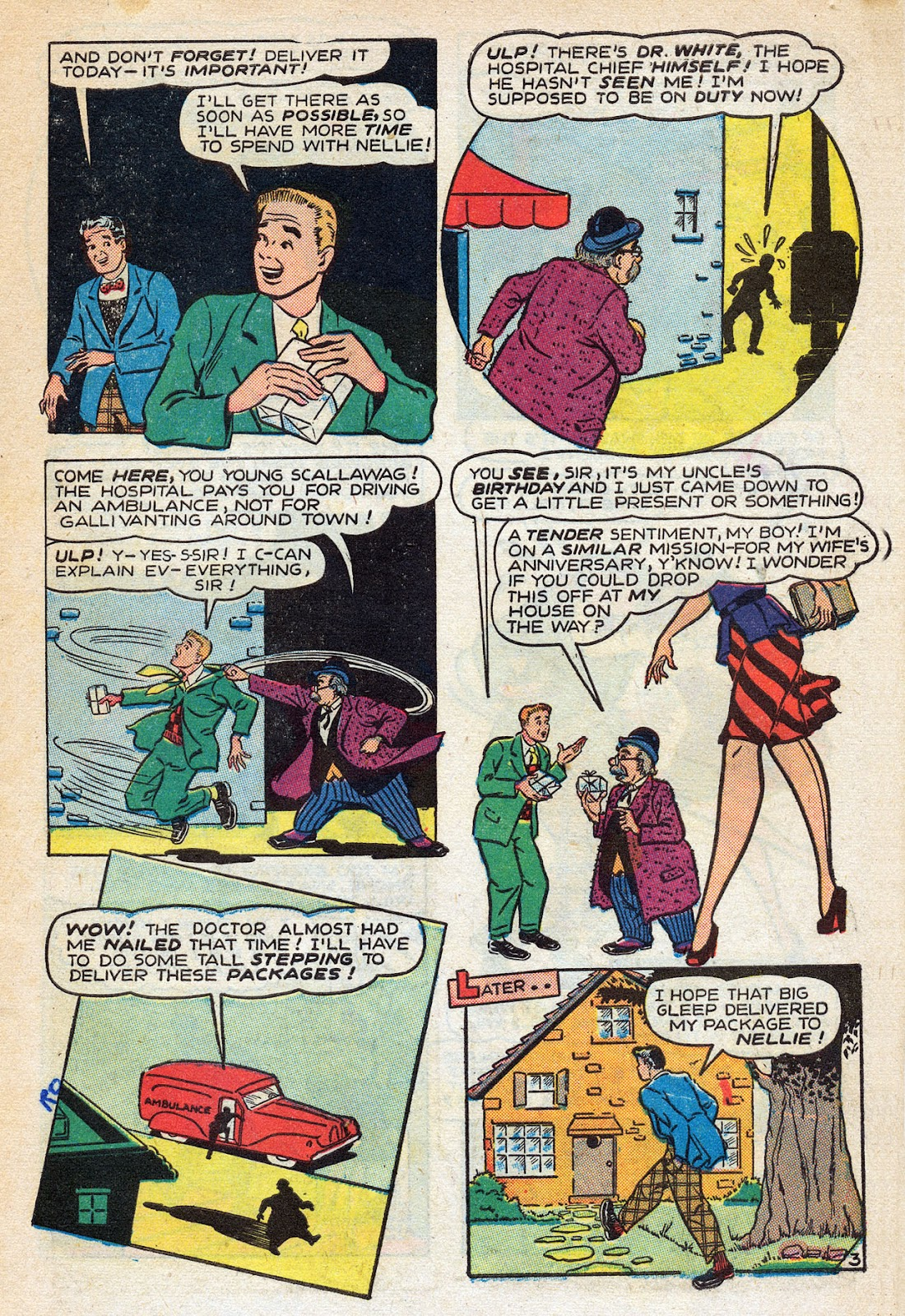 Read online Nellie The Nurse (1945) comic -  Issue #14 - 5