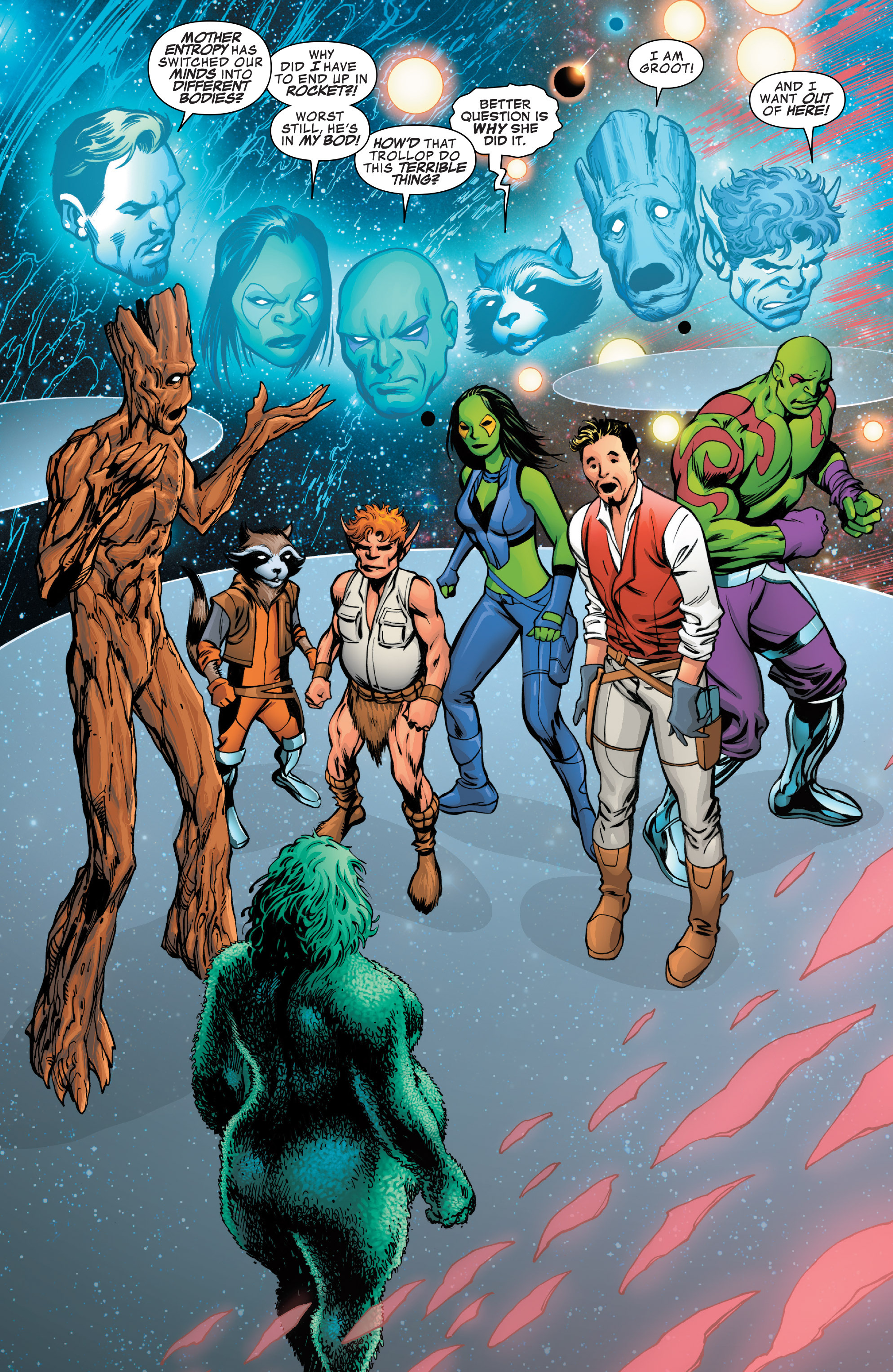 Read online Guardians of the Galaxy: Mother Entropy comic -  Issue #3 - 3