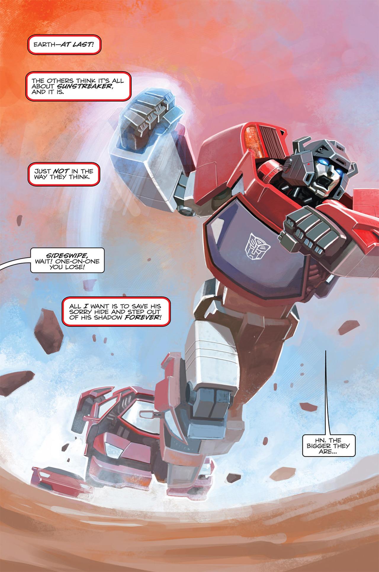 Read online Transformers Spotlight: Sideswipe comic -  Issue # Full - 5