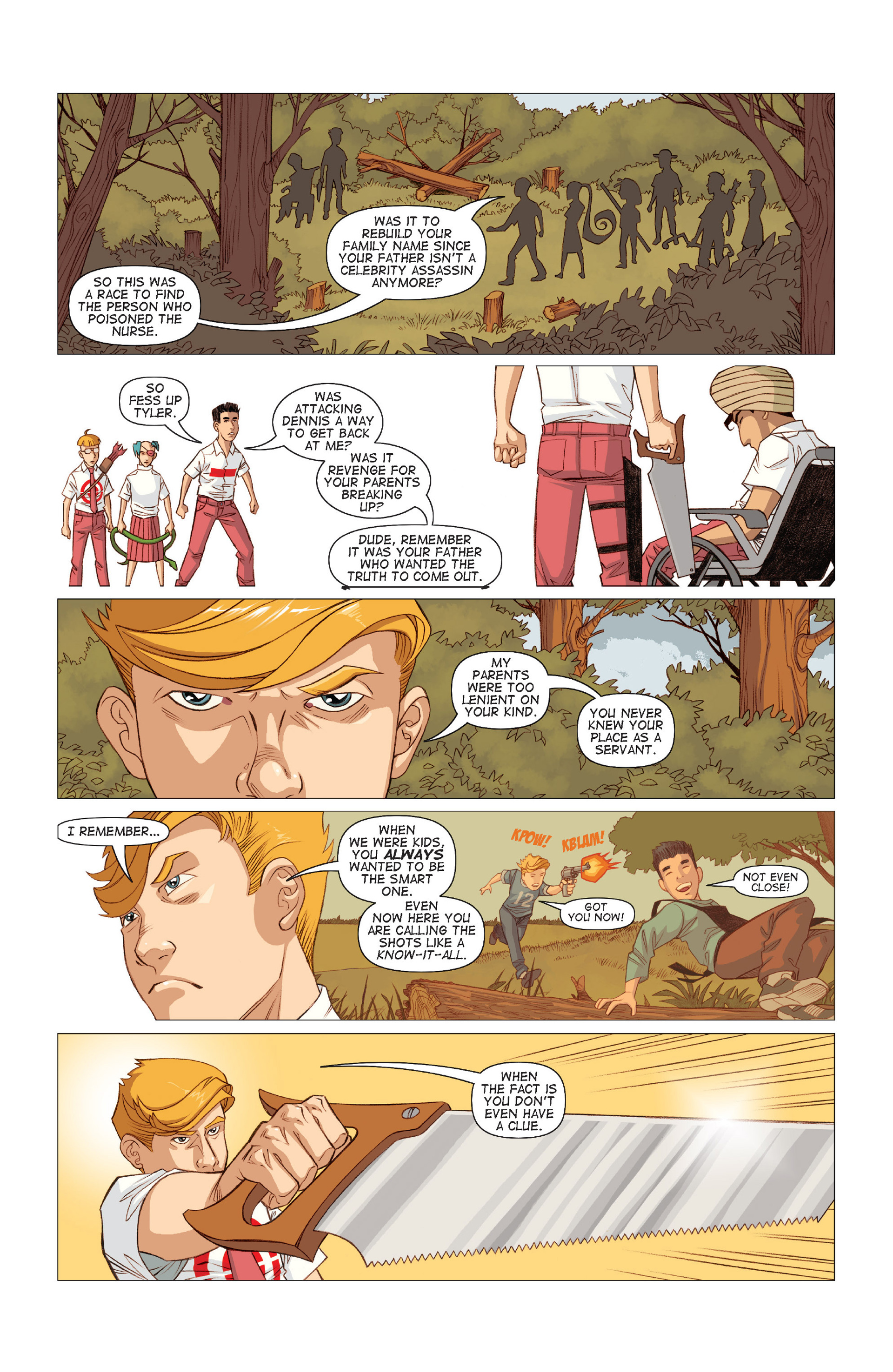 Read online Five Weapons comic -  Issue #9 - 15