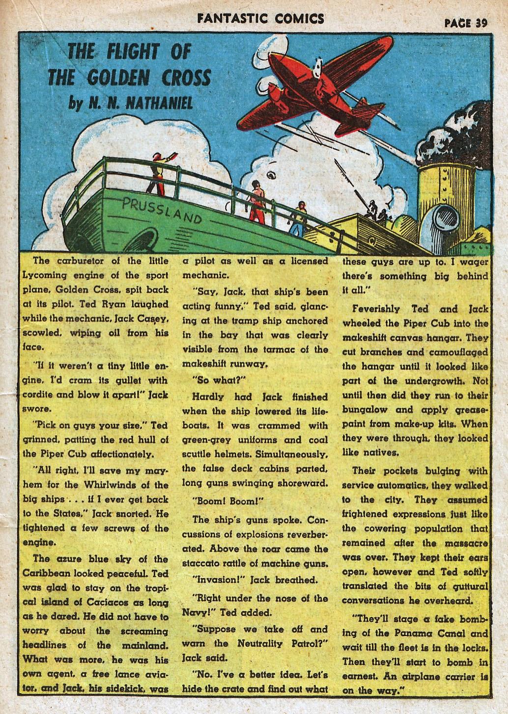 Read online Fantastic Comics comic -  Issue #18 - 41
