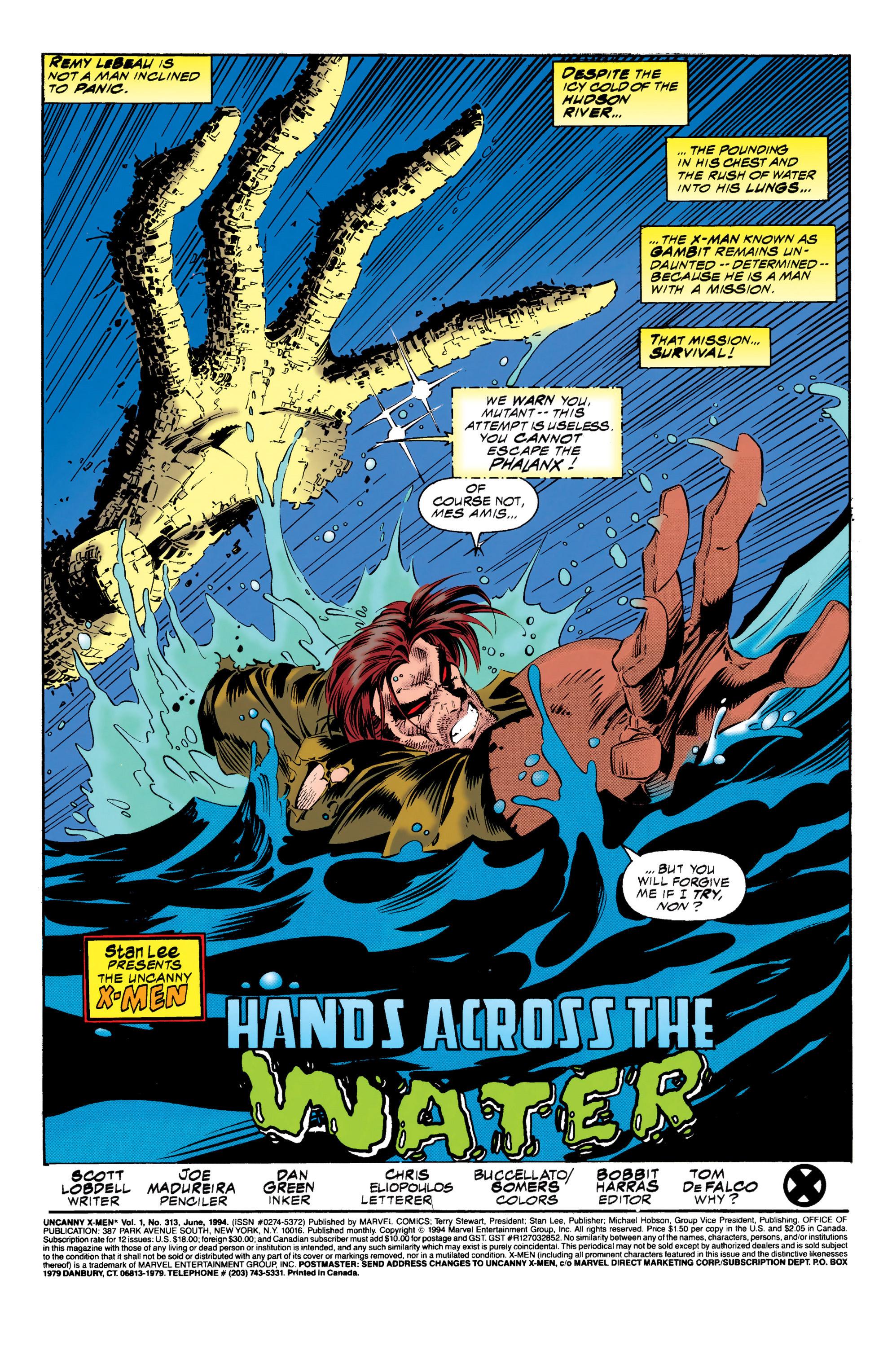 Read online Uncanny X-Men (1963) comic -  Issue #313 - 2