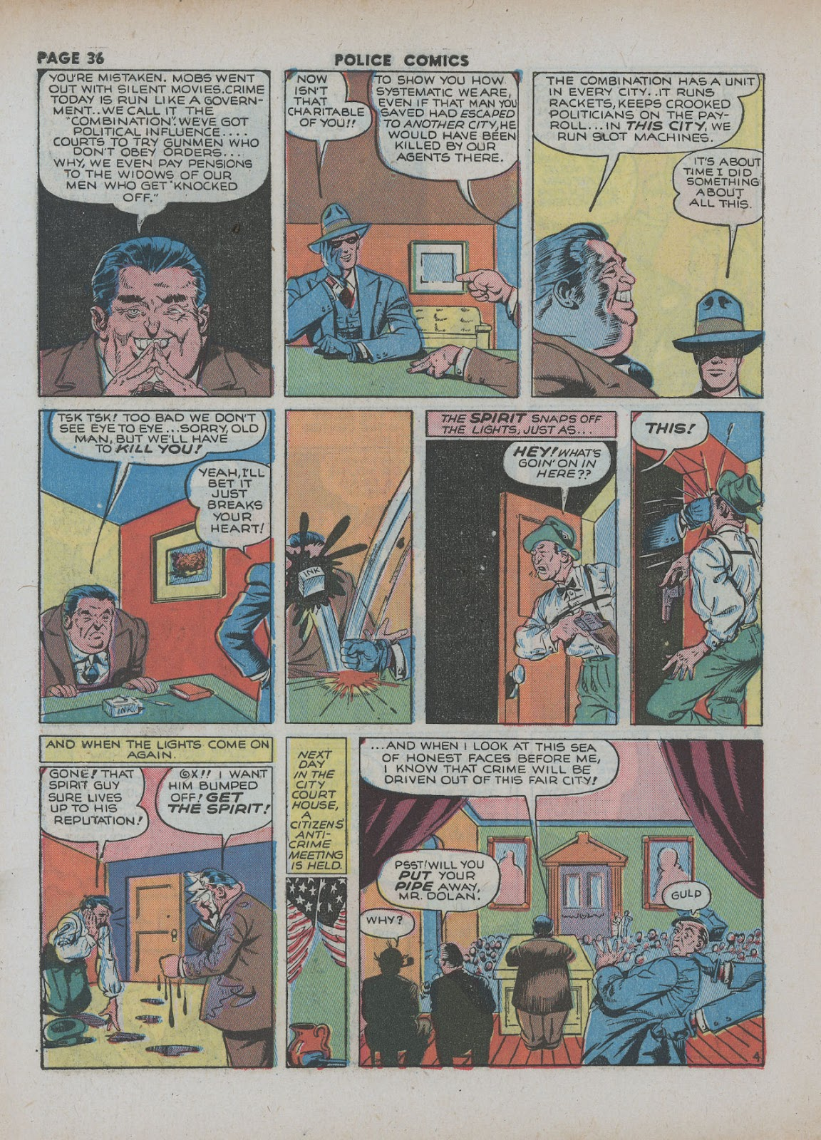 Police Comics issue 18 - Page 38