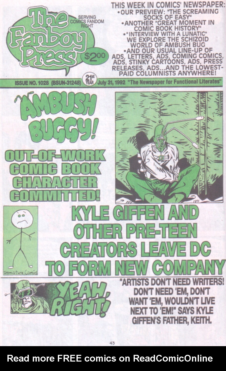 Read online Ambush Bug Nothing Special comic -  Issue # Full - 36