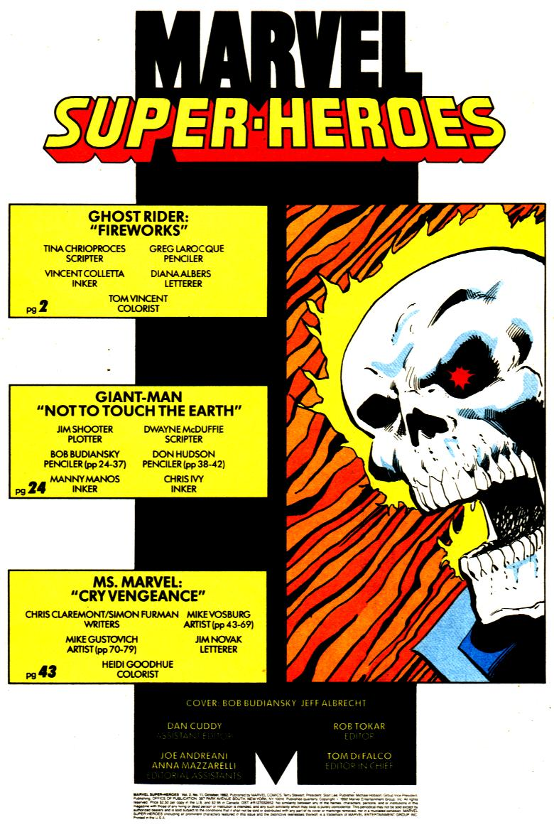 Marvel Super-Heroes (1990) 11 Page 2