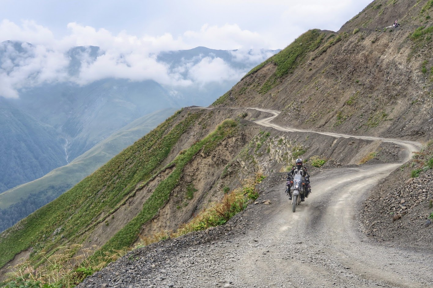 motocyklem do Gruzji