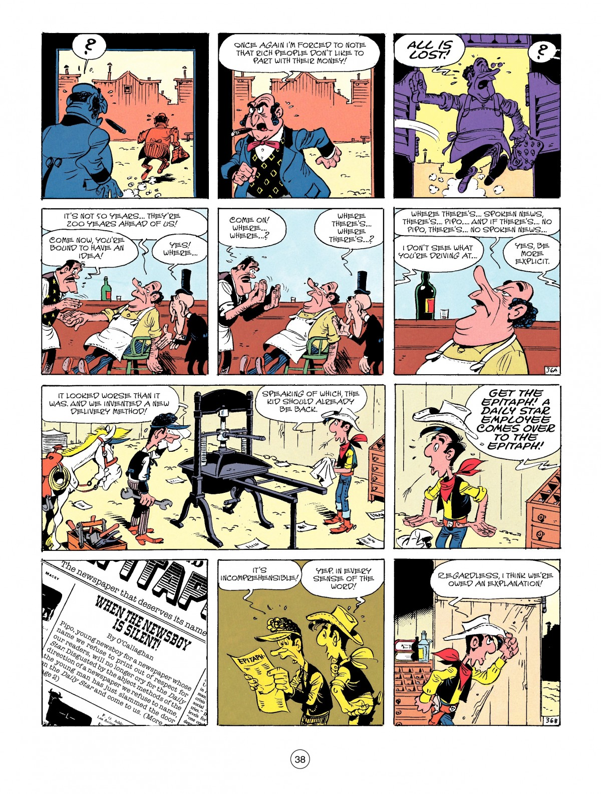 Read online A Lucky Luke Adventure comic -  Issue #41 - 38