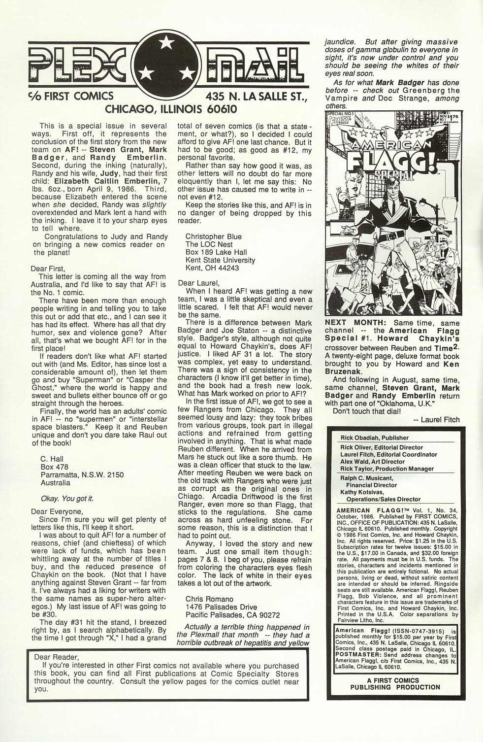 Read online American Flagg! comic -  Issue #34 - 2