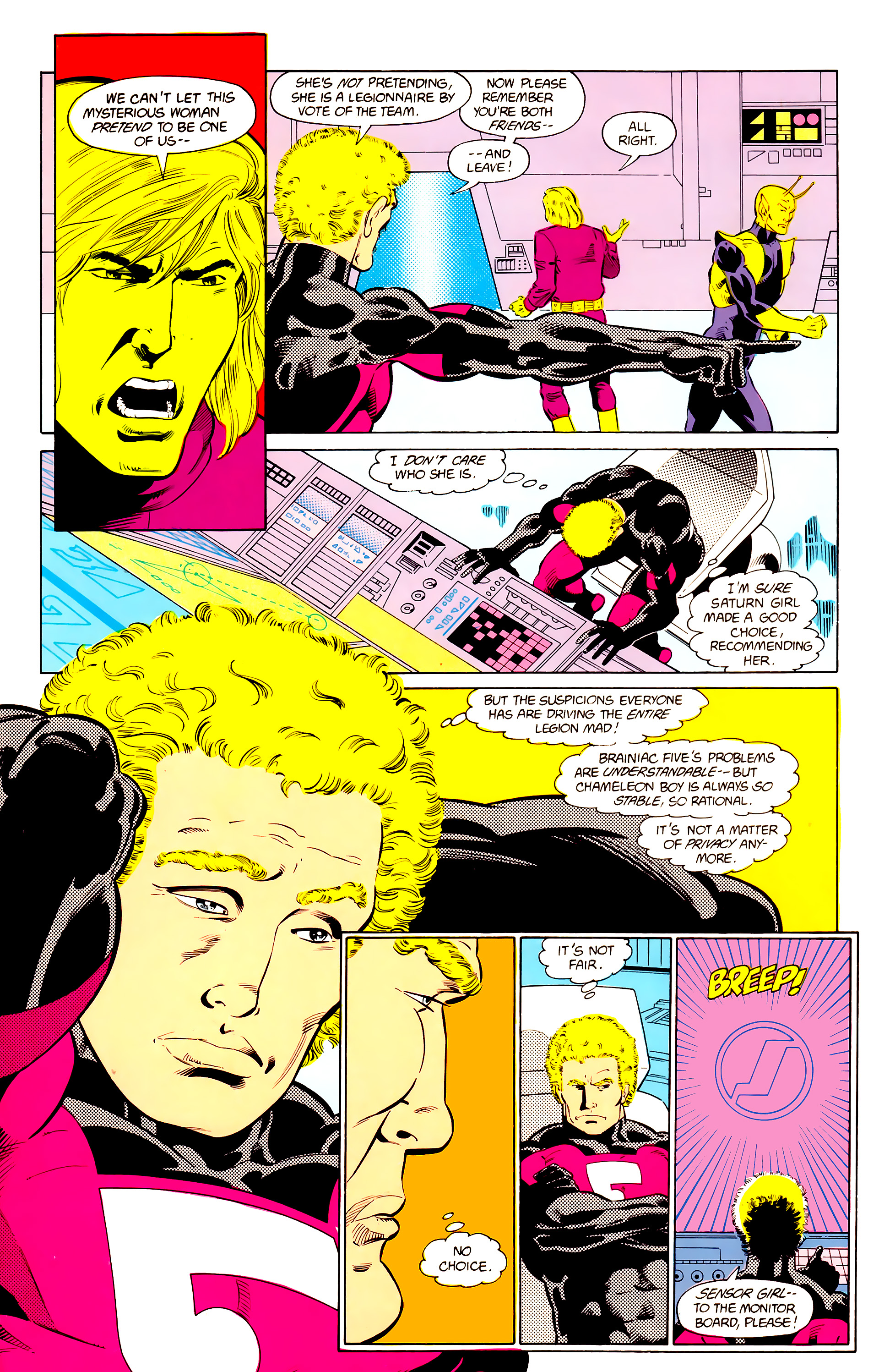 Legion of Super-Heroes (1984) 24 Page 9