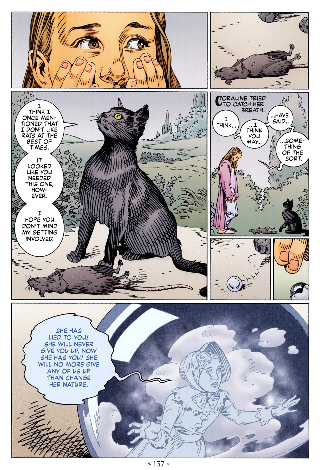 Read online Coraline comic -  Issue #1 - 143
