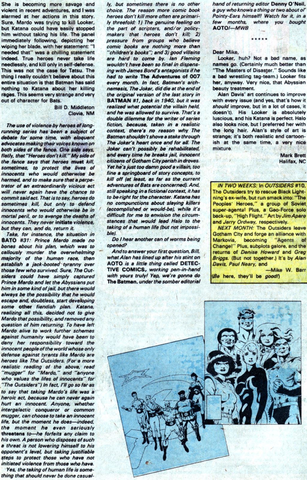 Read online Adventures of the Outsiders comic -  Issue #35 - 26
