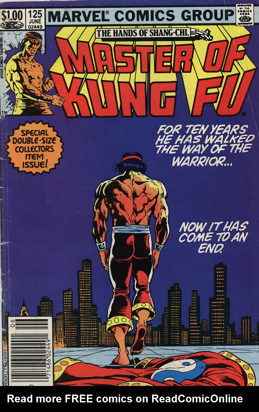 Master of Kung Fu (1974) issue 125 - Page 1