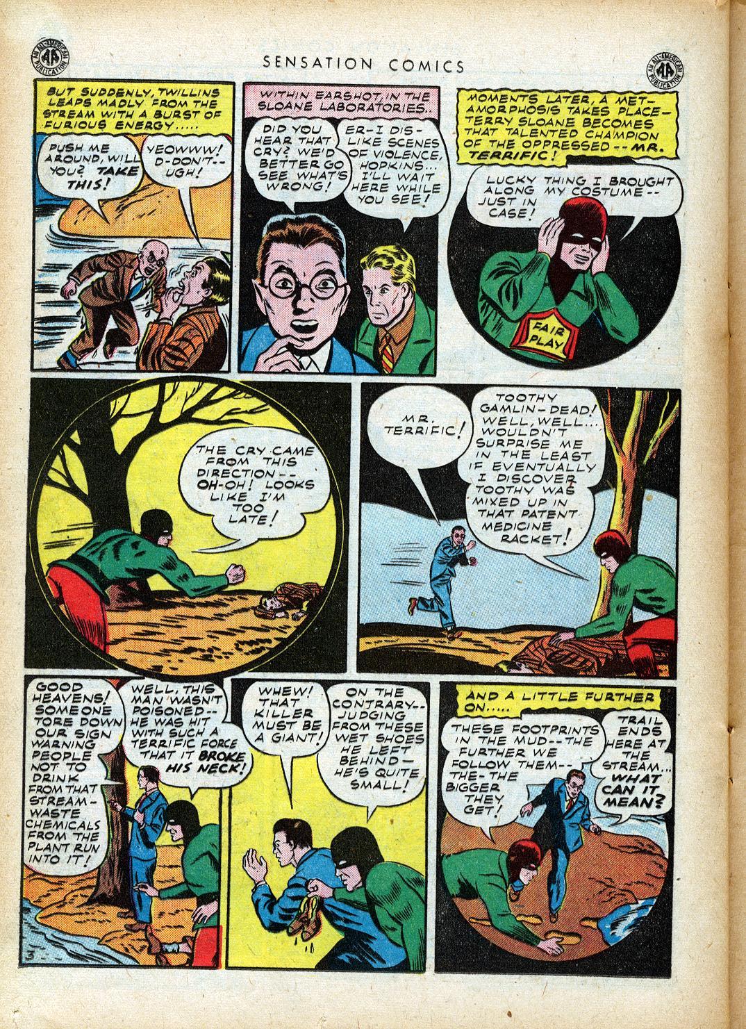 Read online Sensation (Mystery) Comics comic -  Issue #40 - 34
