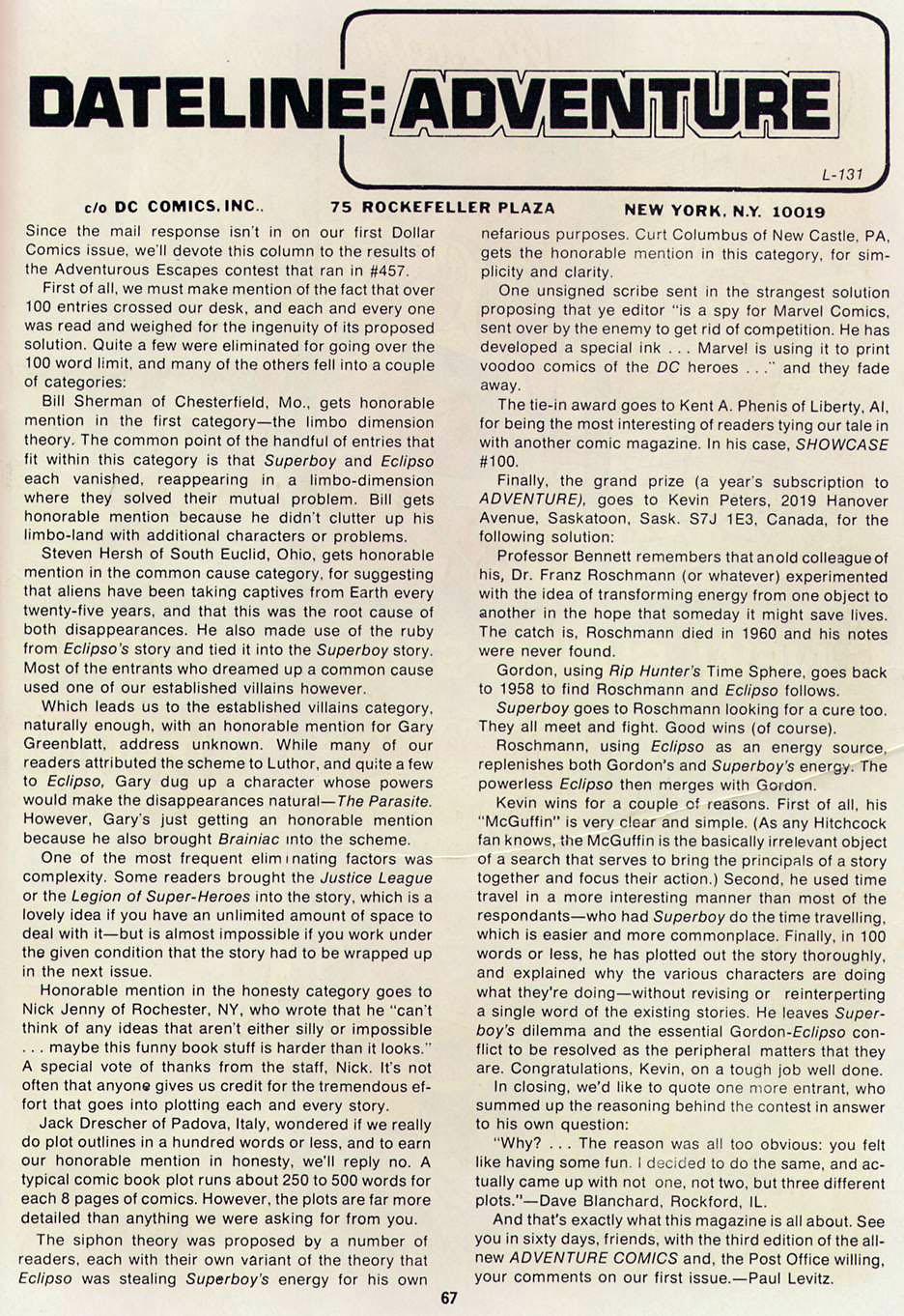 Read online Adventure Comics (1938) comic -  Issue #460 - 67