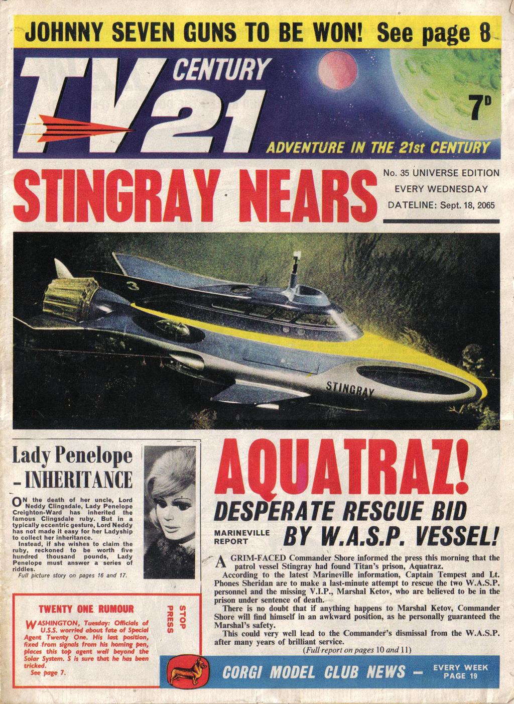 Read online TV Century 21 (TV 21) comic -  Issue #35 - 1