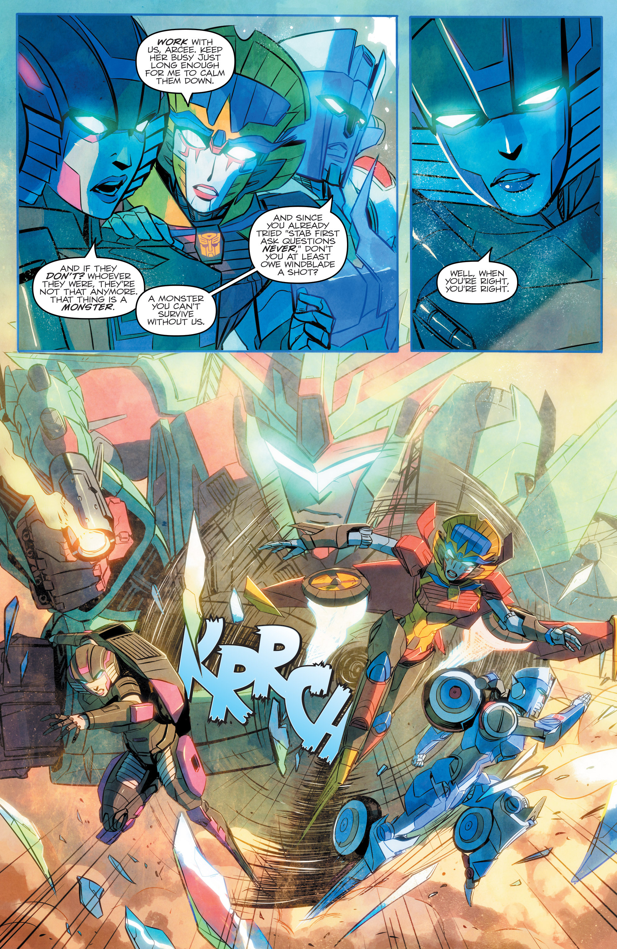 Read online Transformers: Combiner Hunters comic -  Issue # Full - 18