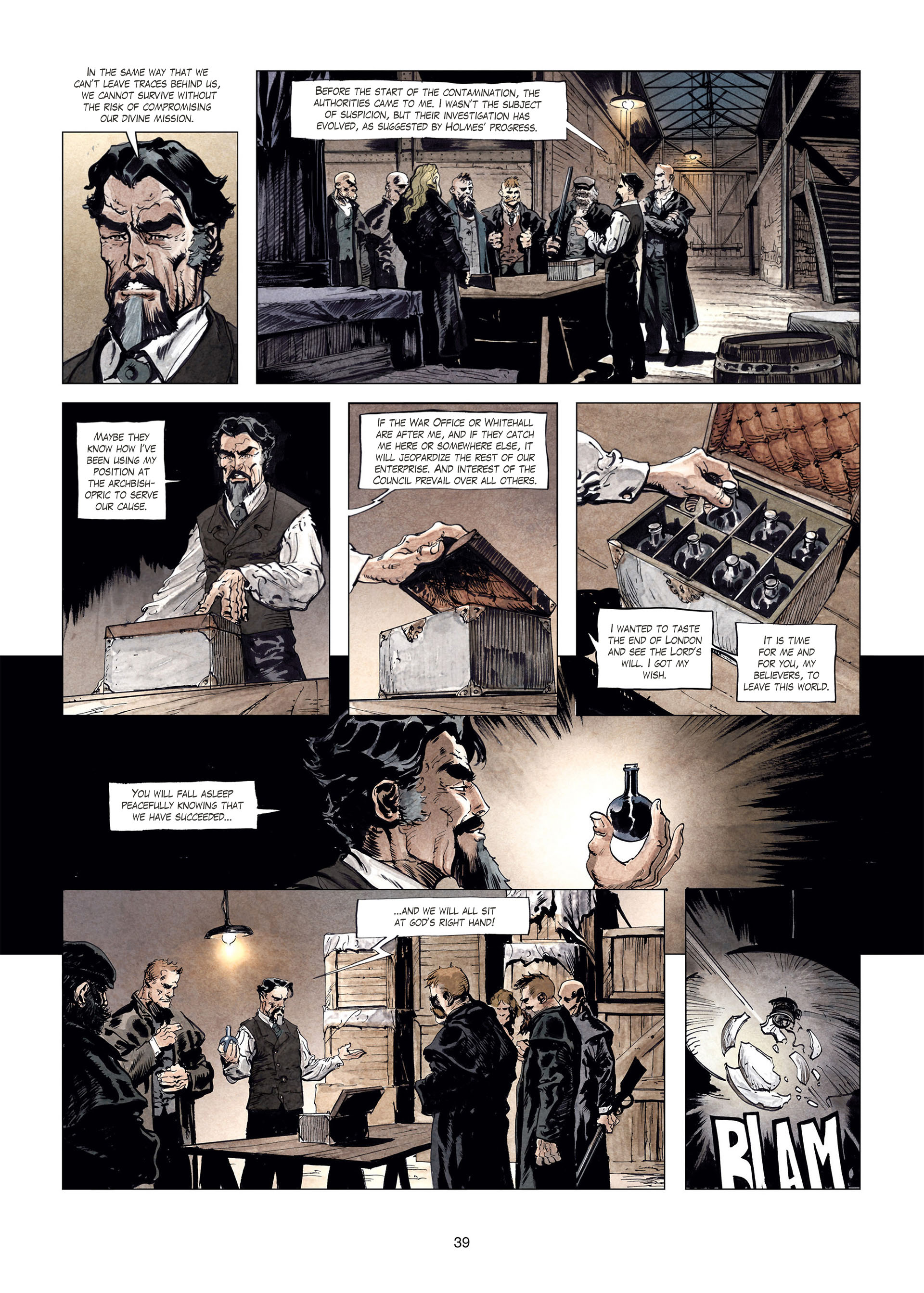 Read online Sherlock Holmes Society Tome 4 : Contamination comic -  Issue # Full - 39
