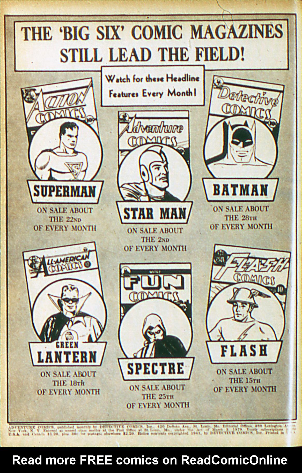 Read online Adventure Comics (1938) comic -  Issue #61 - 3