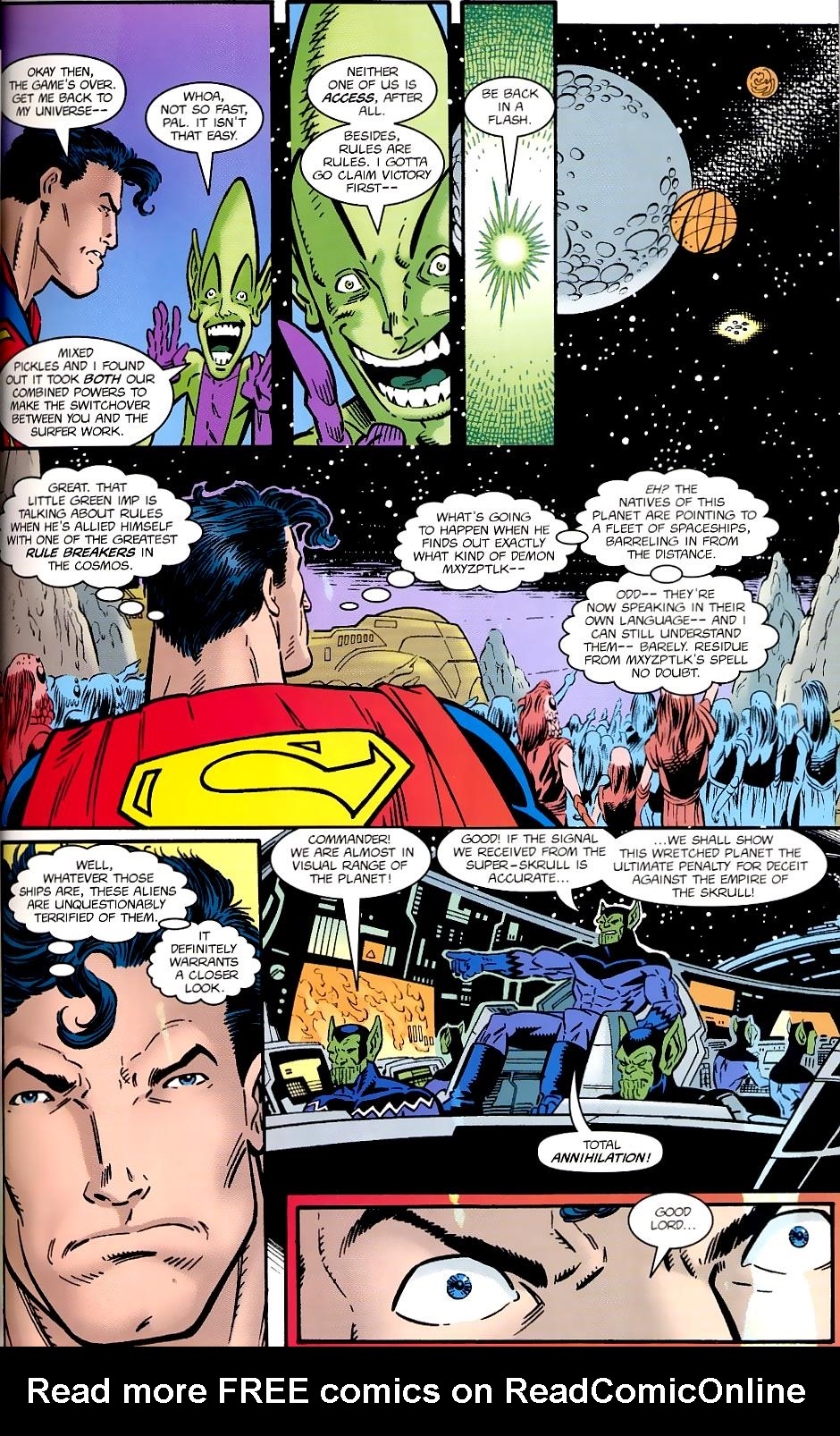 Read online Silver Surfer/Superman comic -  Issue # Full - 33