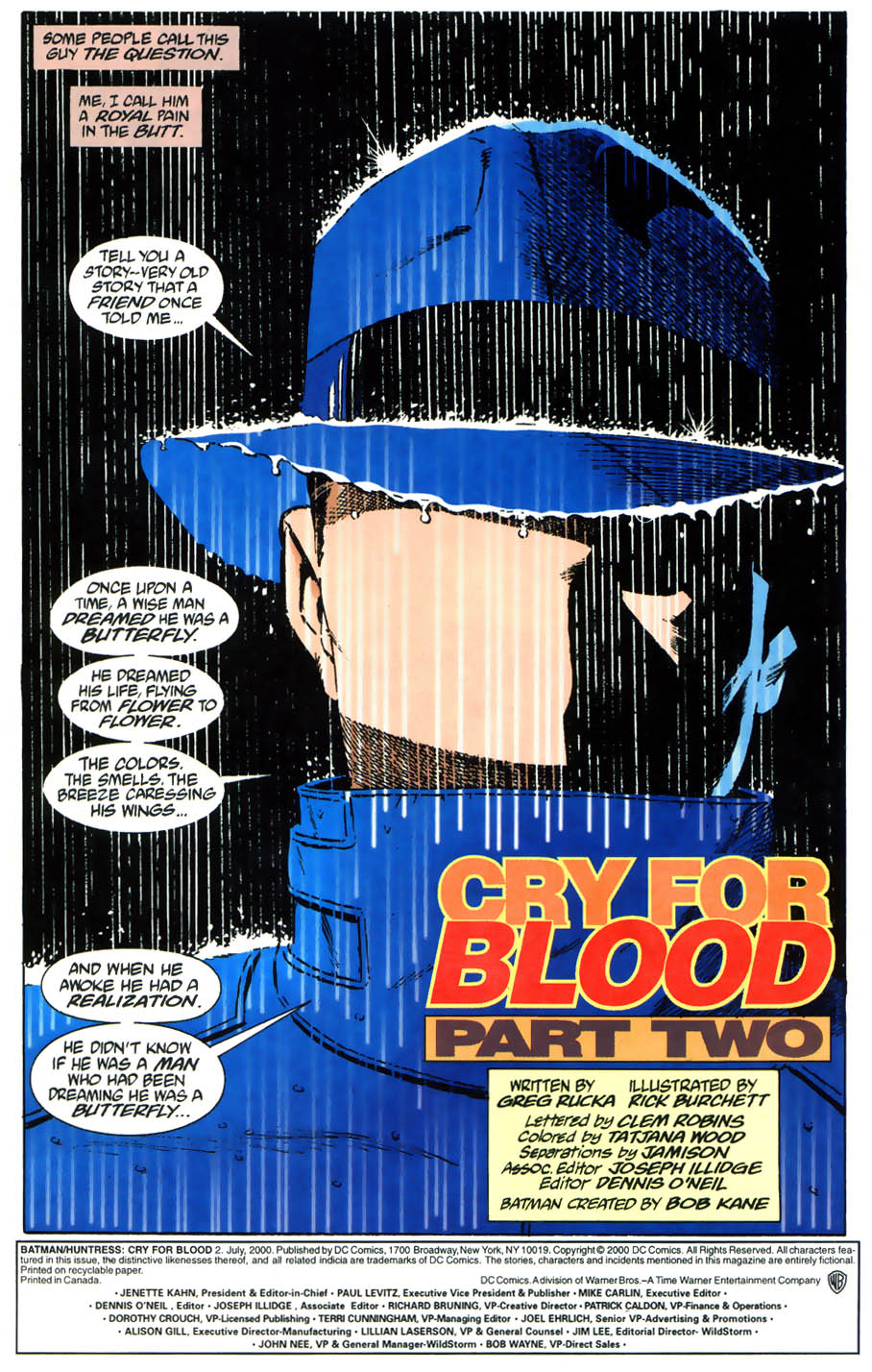 Read online Batman/Huntress: Cry for Blood comic -  Issue #2 - 2